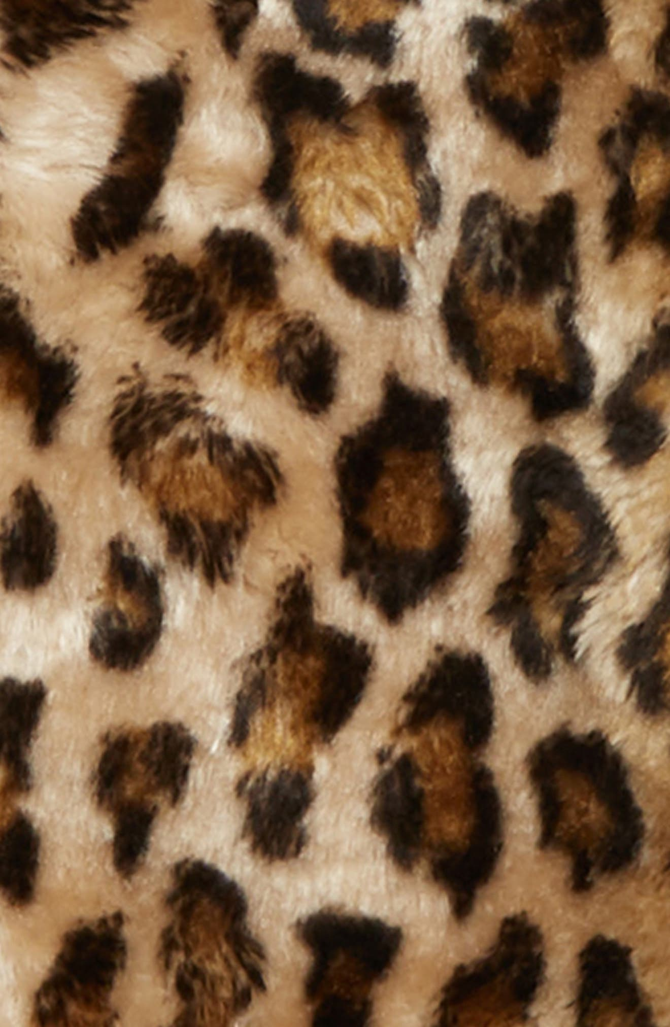 Hooded Faux Fur Bomber Jacket,                             Alternate thumbnail 2, color,                             TAN DALE LEOPARD