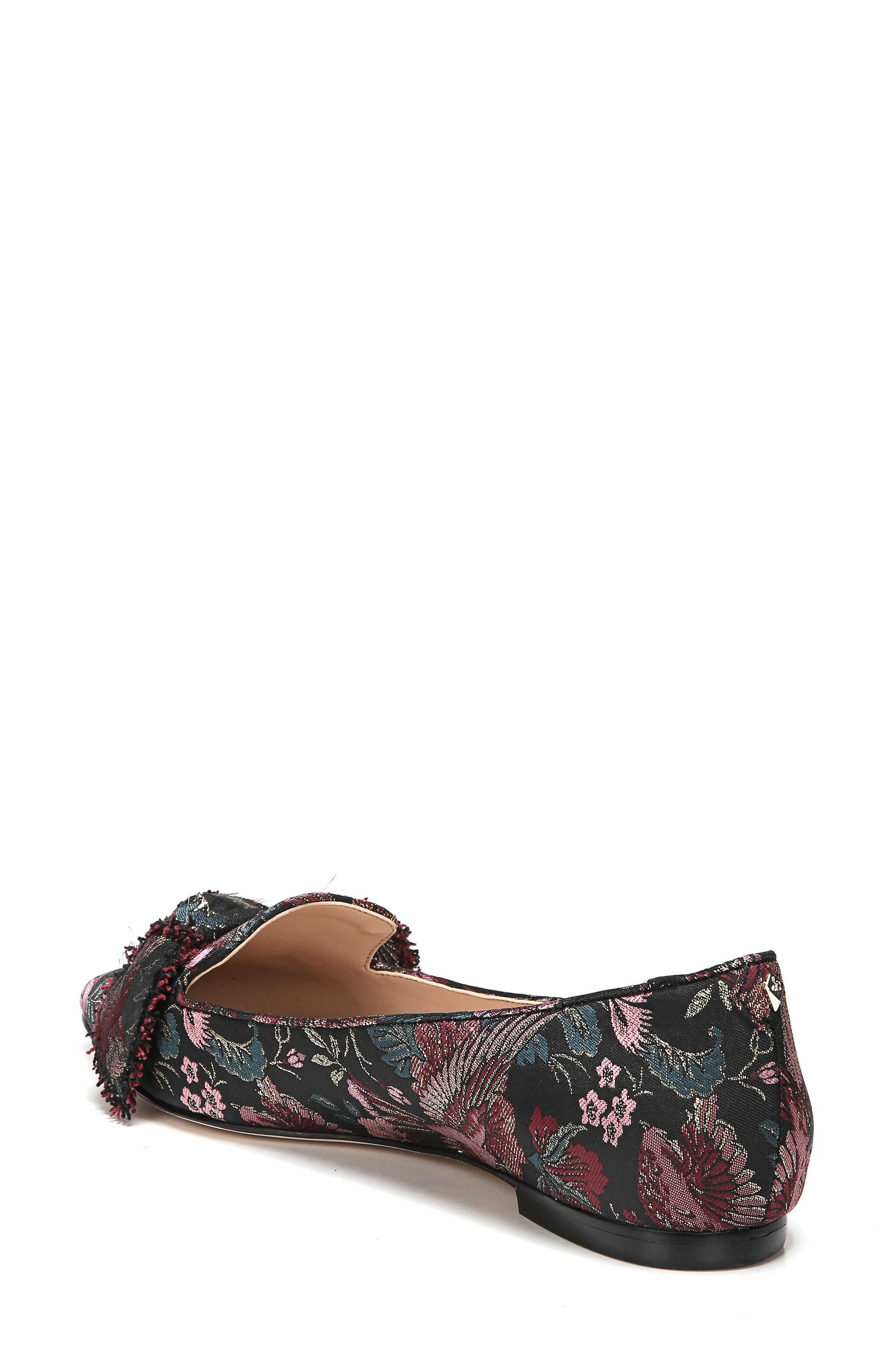 Rochester Bow Pointy Toe Flat,                             Alternate thumbnail 2, color,                             002