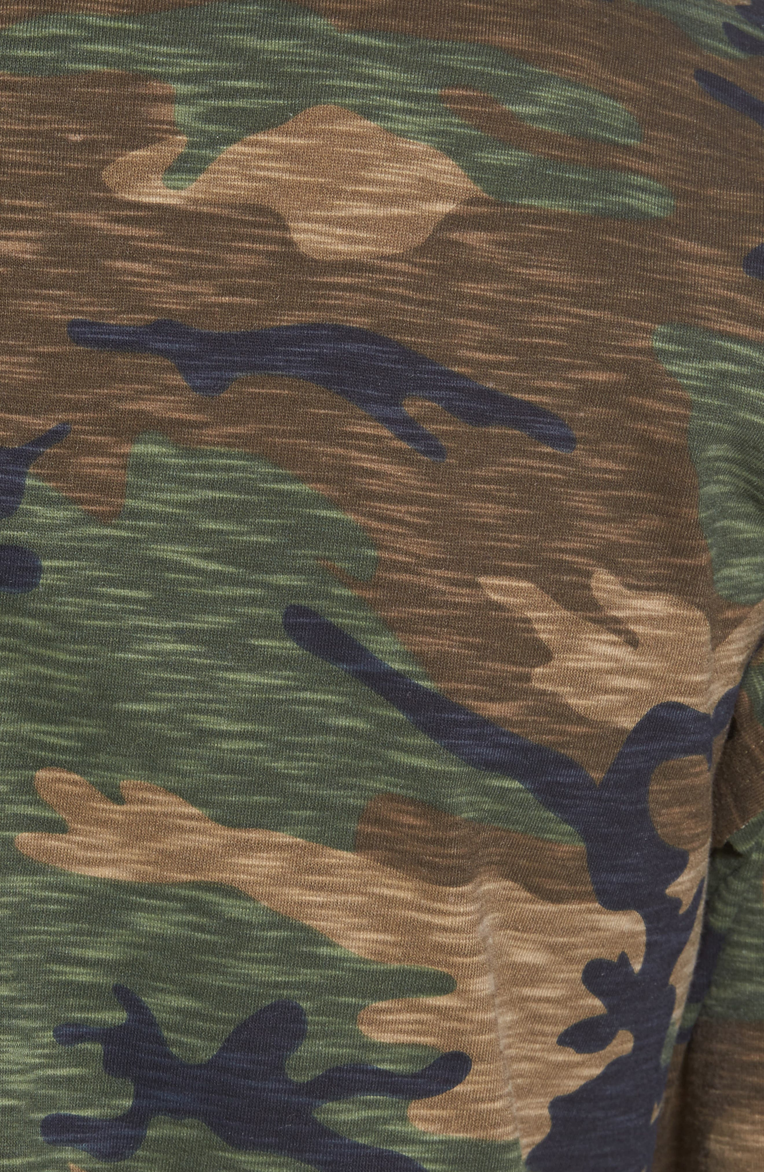 Camo Strapped T-Shirt,                             Alternate thumbnail 5, color,                             210