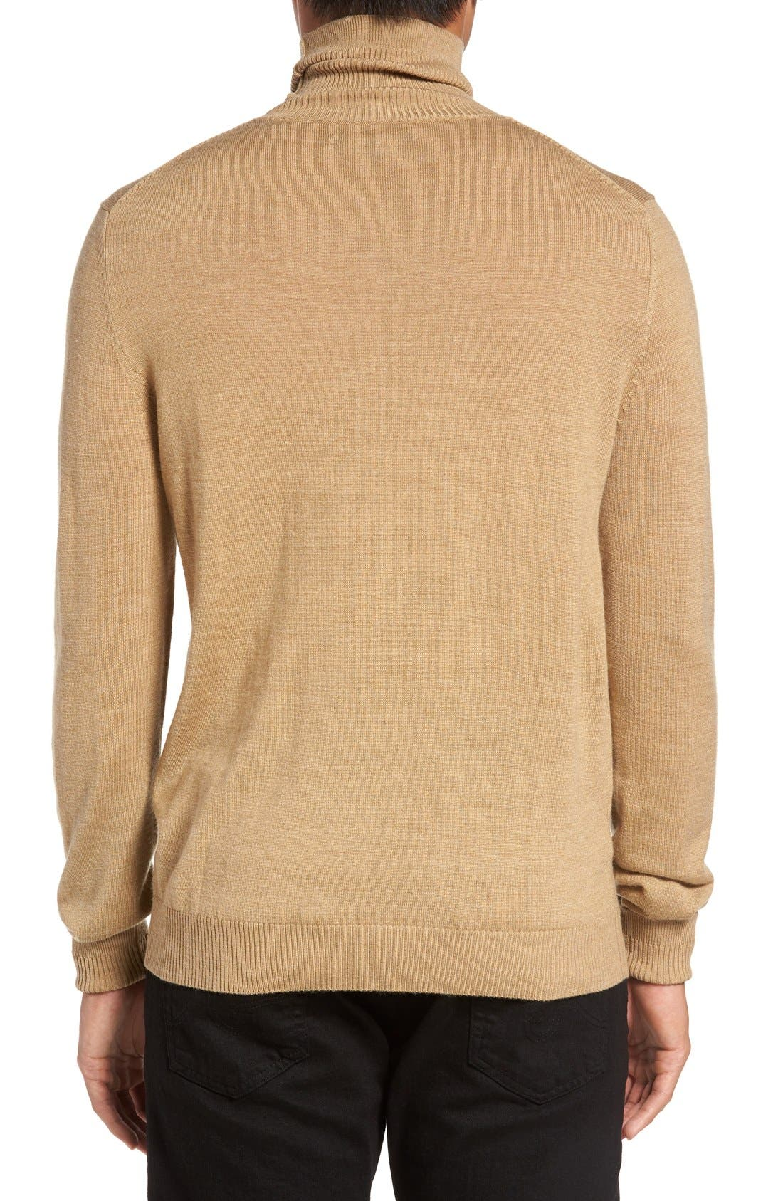 VINCE CAMUTO,                             Merino Wool Turtleneck,                             Alternate thumbnail 2, color,                             CAMEL