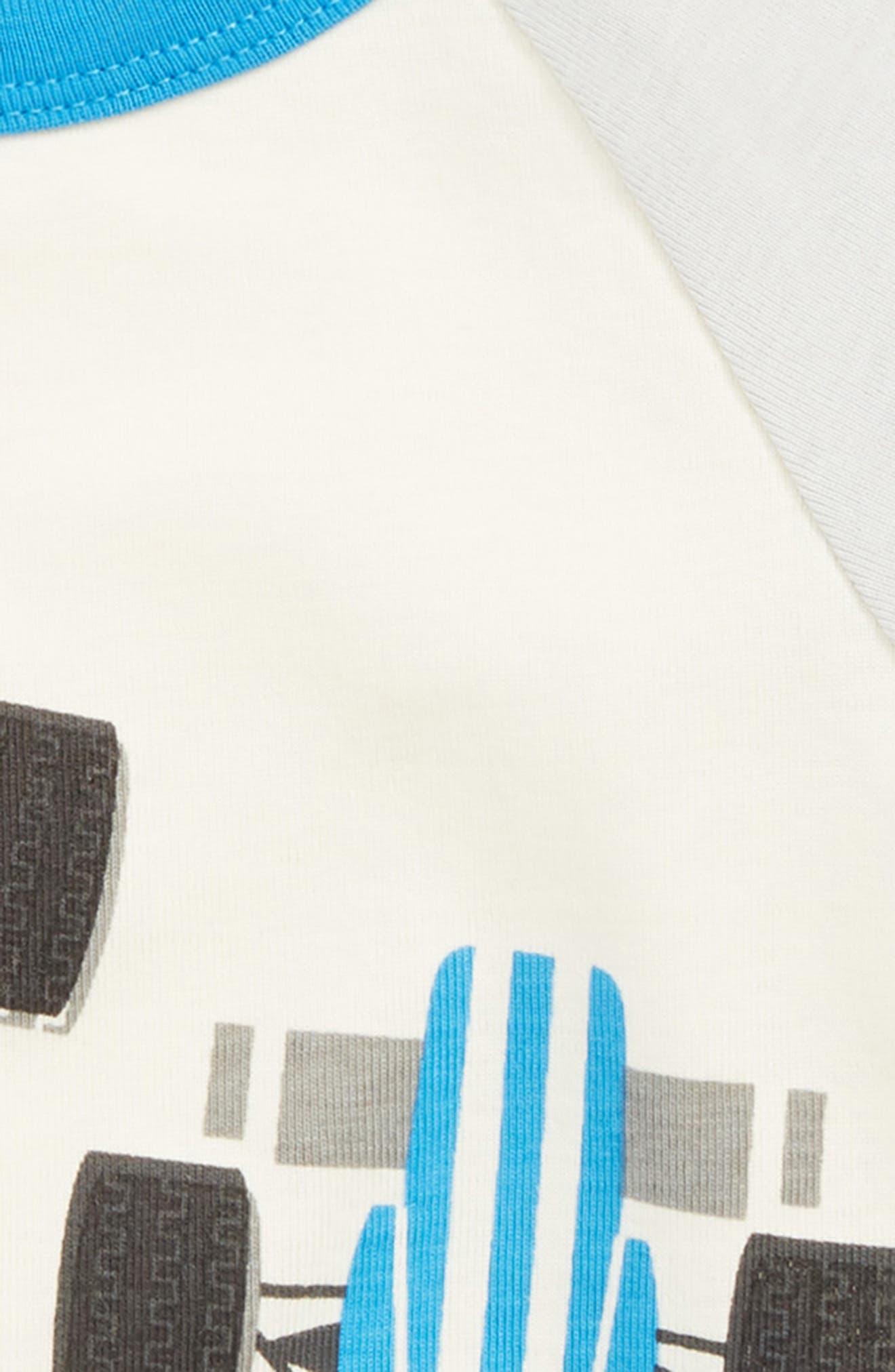 Racecar Print Fitted Two-Piece Pajamas,                             Alternate thumbnail 2, color,                             RACE CAR SCRAMBLE