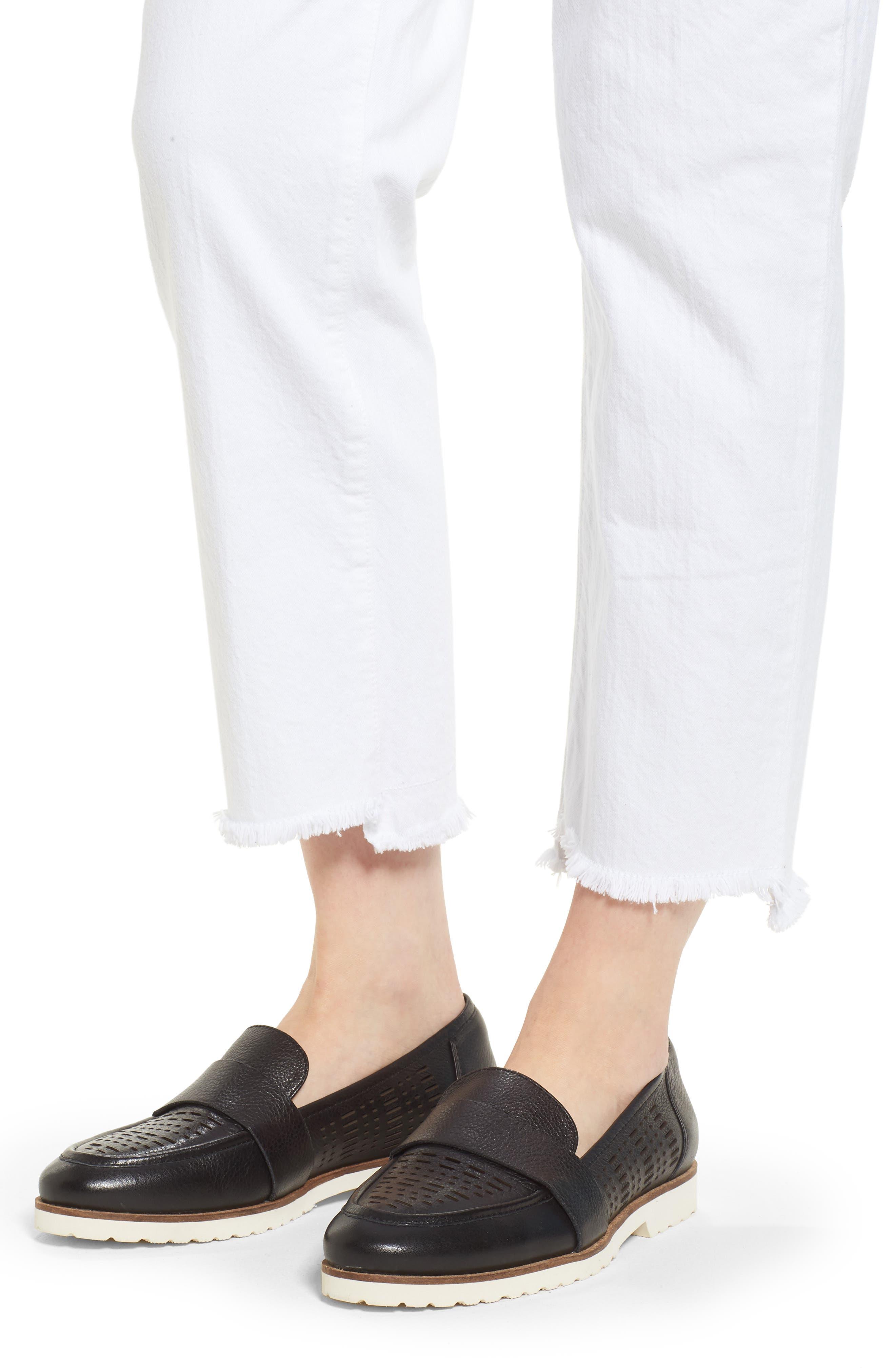 Shark Bite Straight Leg Jeans,                             Alternate thumbnail 9, color,