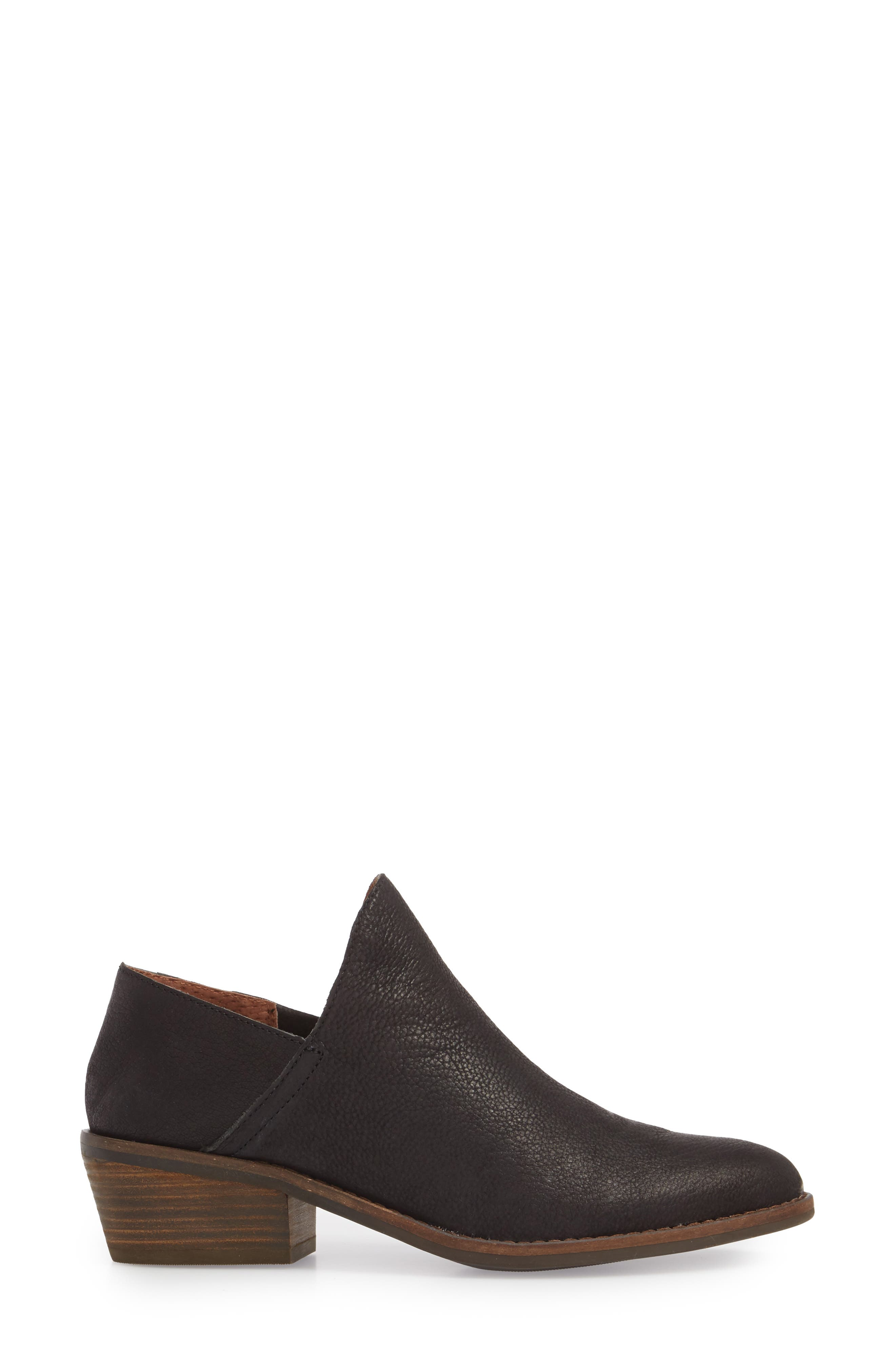 LUCKY BRAND,                             Fausst Bootie,                             Alternate thumbnail 3, color,                             001