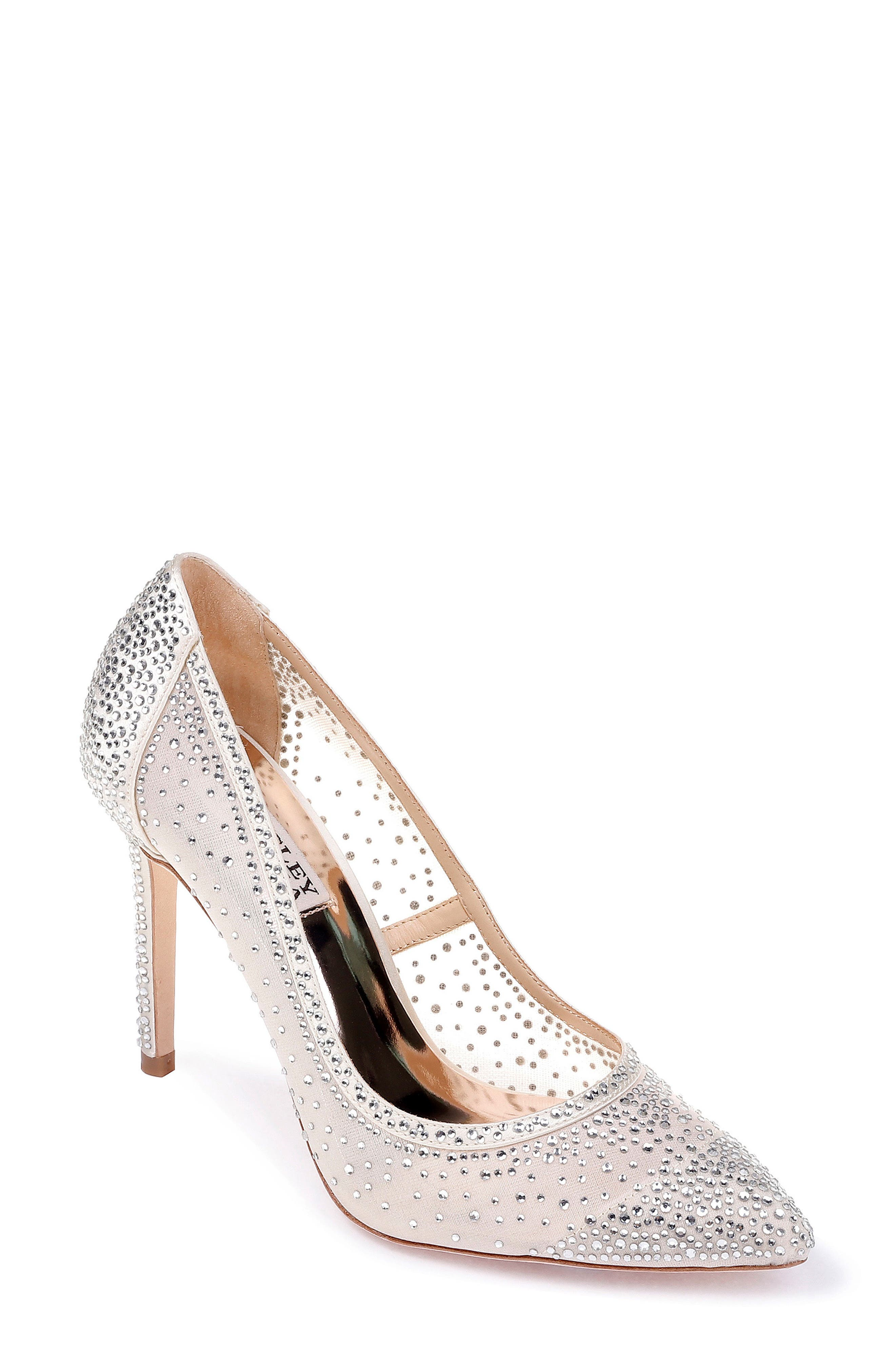 Weslee Pointy Toe Pump,                             Main thumbnail 1, color,                             IVORY SATIN