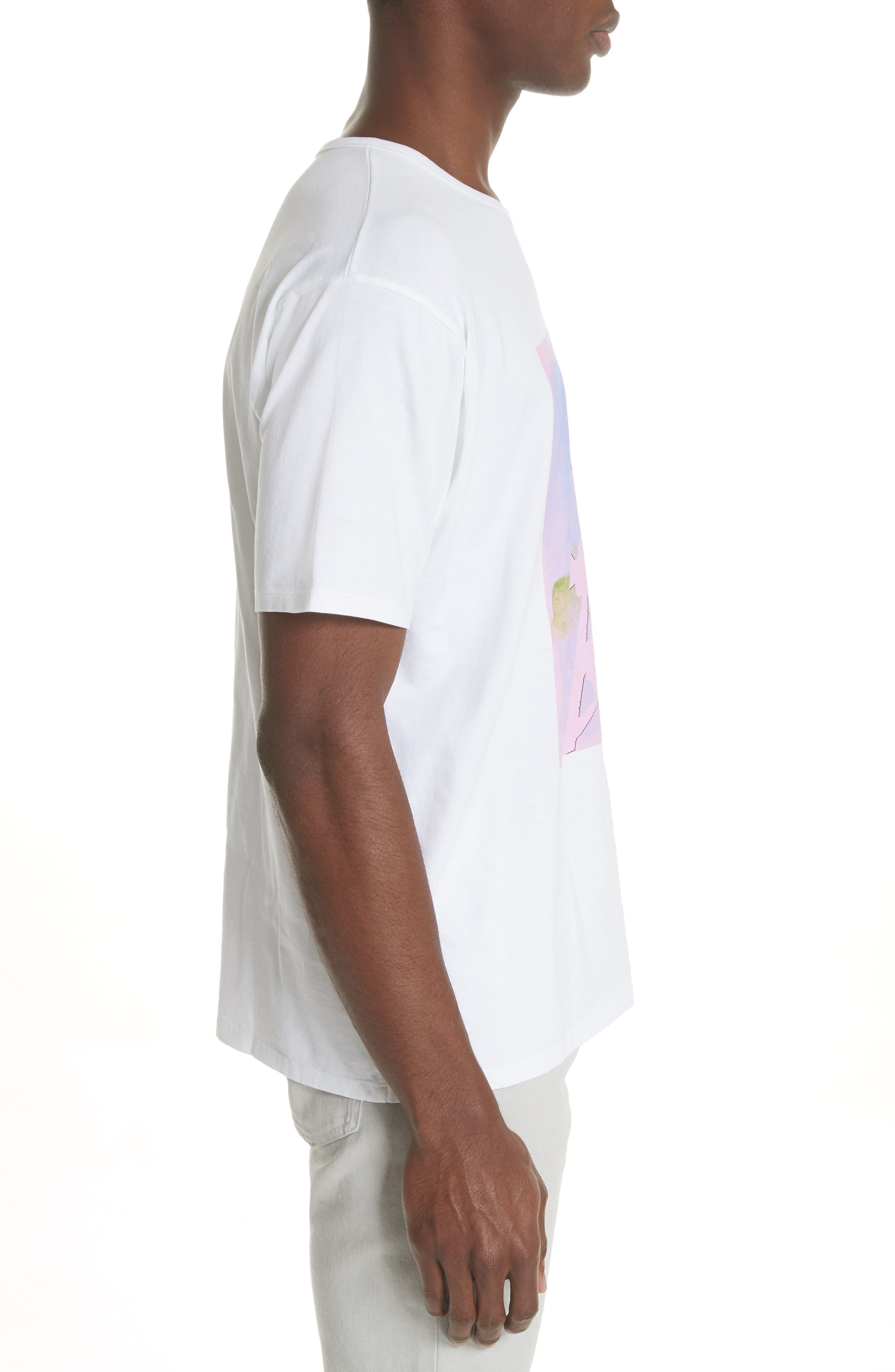 Niave Flower Graphic T-Shirt,                             Alternate thumbnail 3, color,                             100
