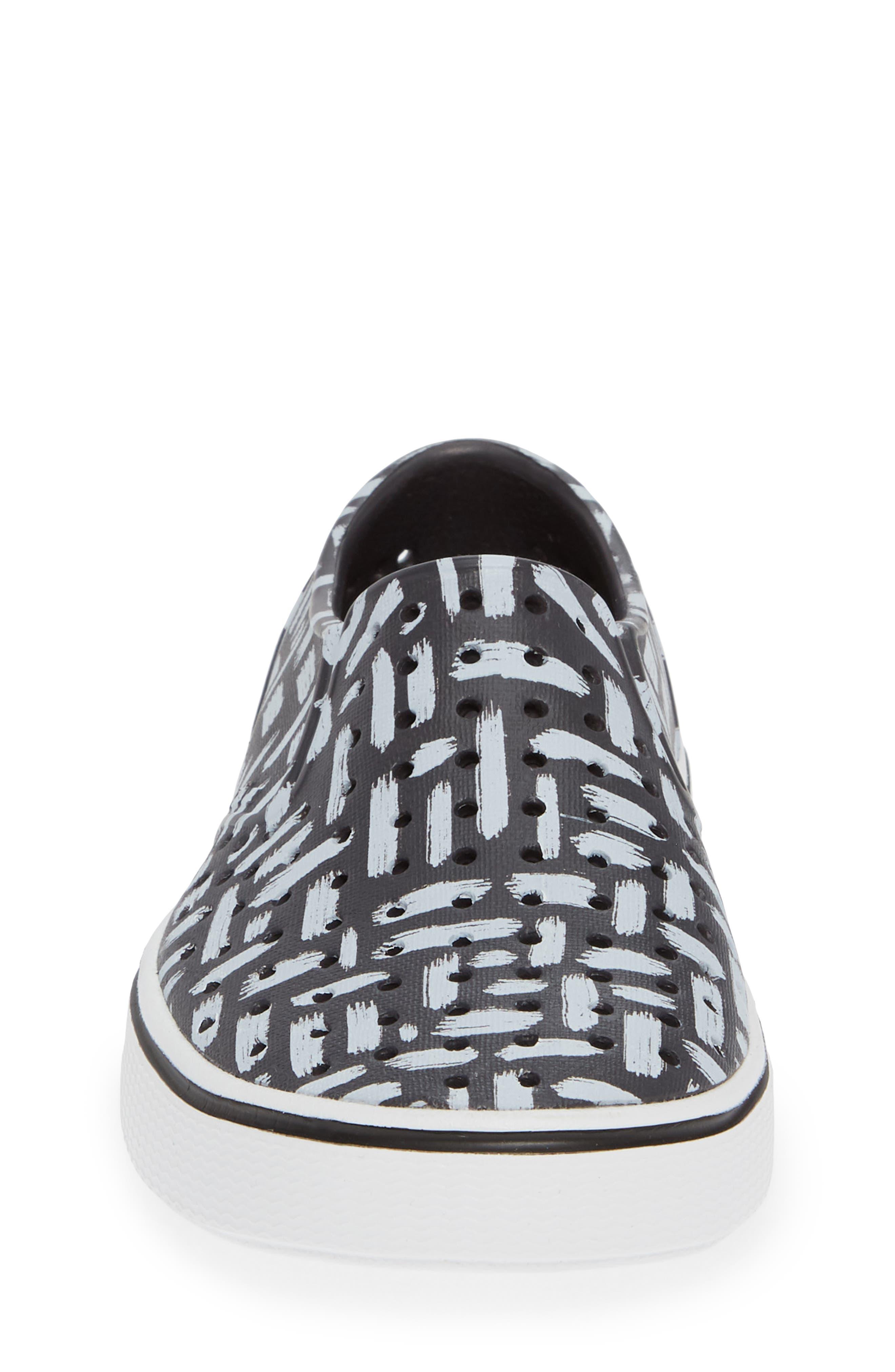 Miles Print Slip-On Sneaker,                             Alternate thumbnail 4, color,                             ONYX/ SHELL WHITE/ INKWELL