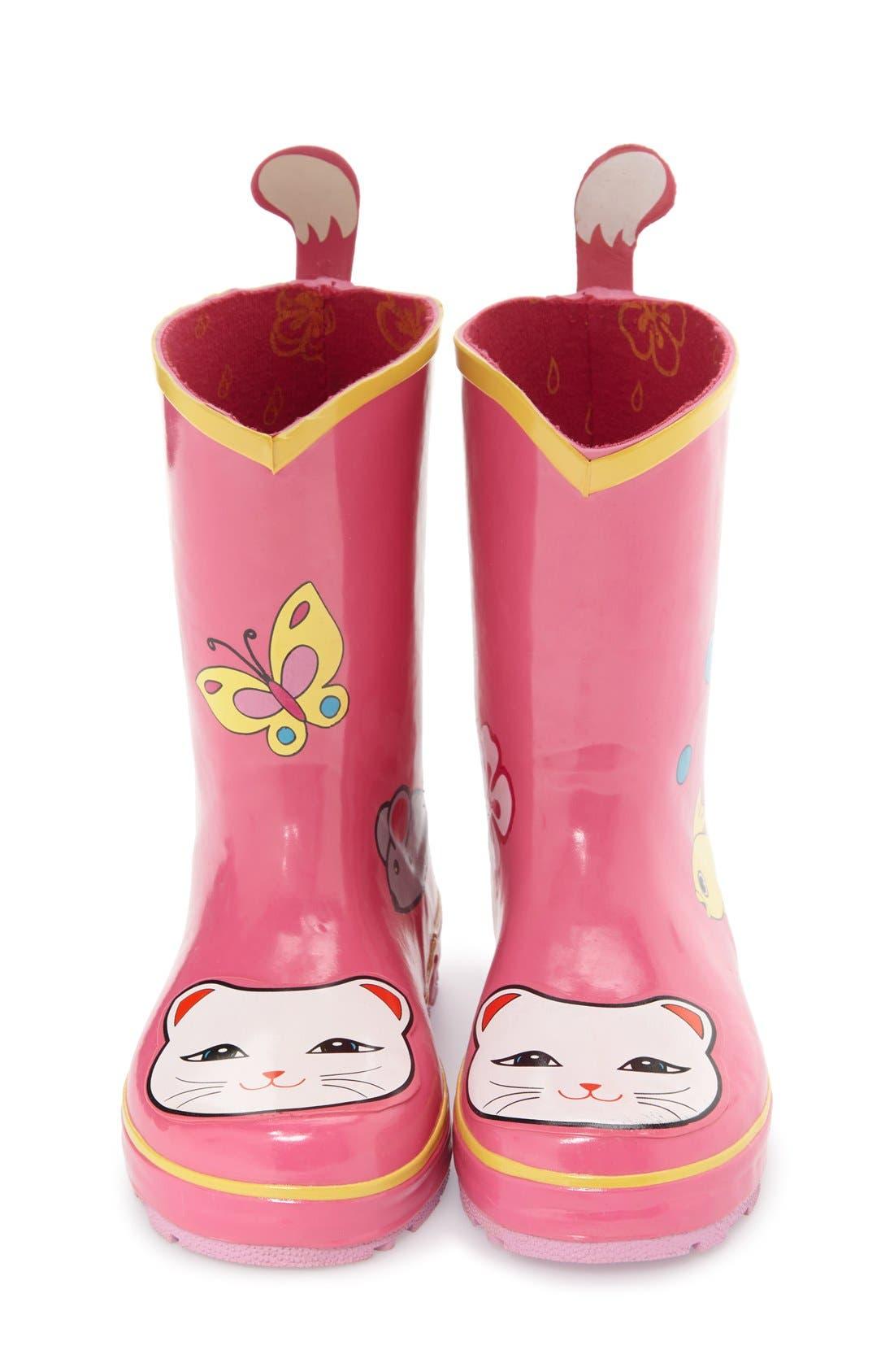 'Cat' Waterproof Rain Boot,                             Alternate thumbnail 3, color,                             650