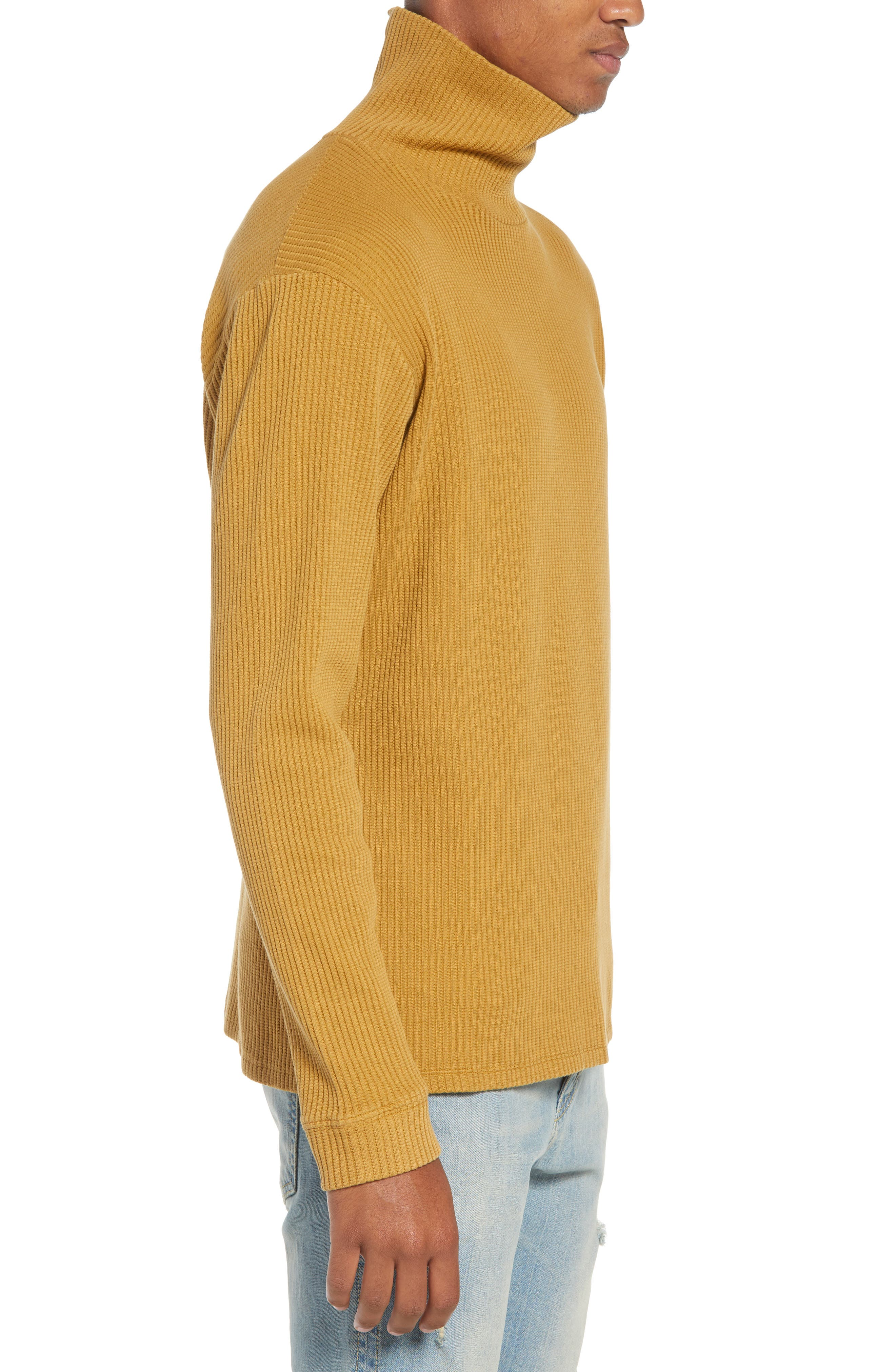 Henrik Turtleneck Sweater,                             Alternate thumbnail 3, color,                             BURNT KHAKI