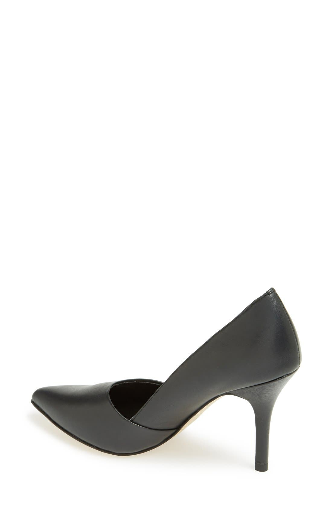 'Devin' Pointy Toe Pump,                             Alternate thumbnail 3, color,                             001