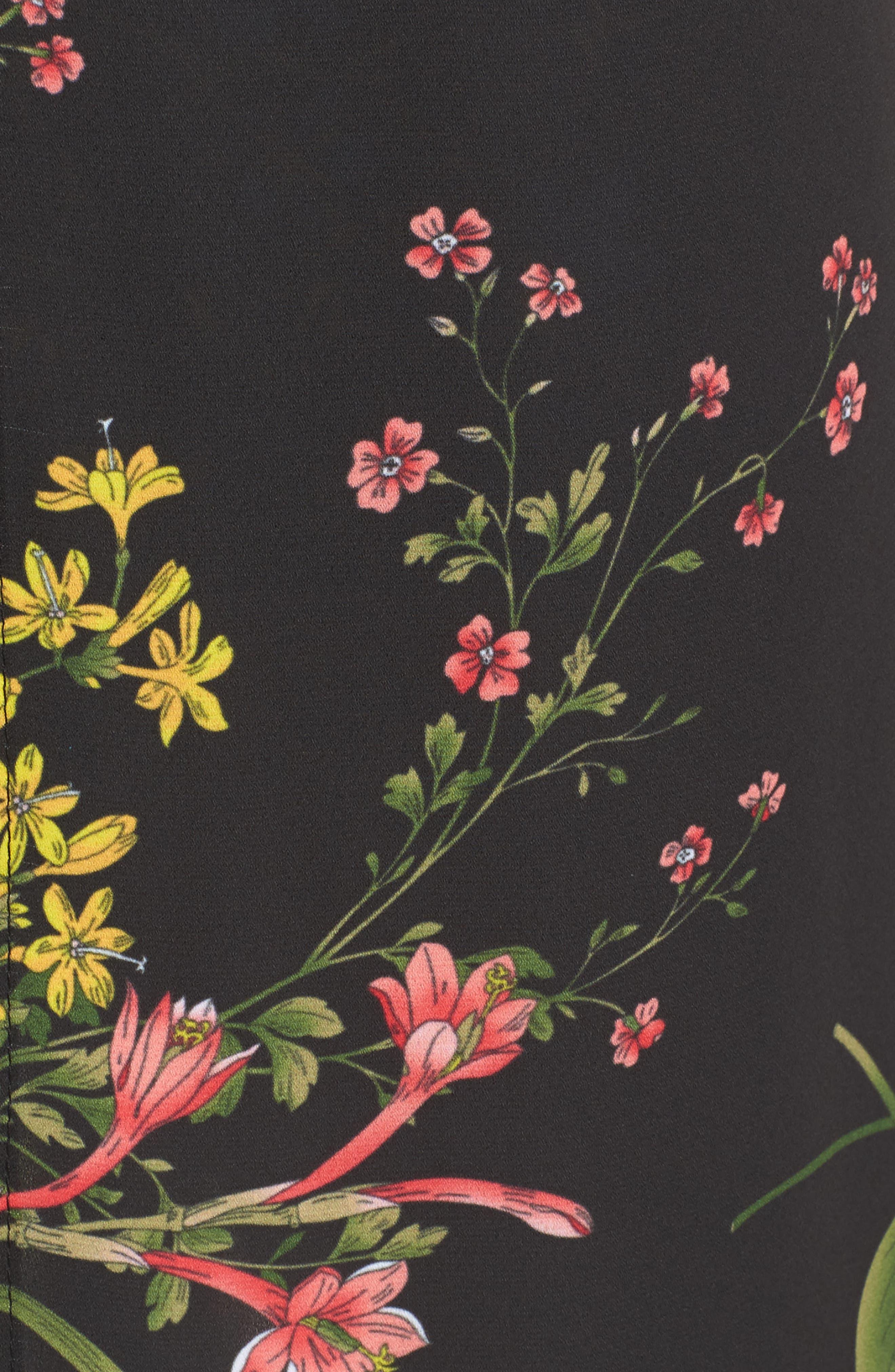 Floral Print Midi Romper,                             Alternate thumbnail 5, color,