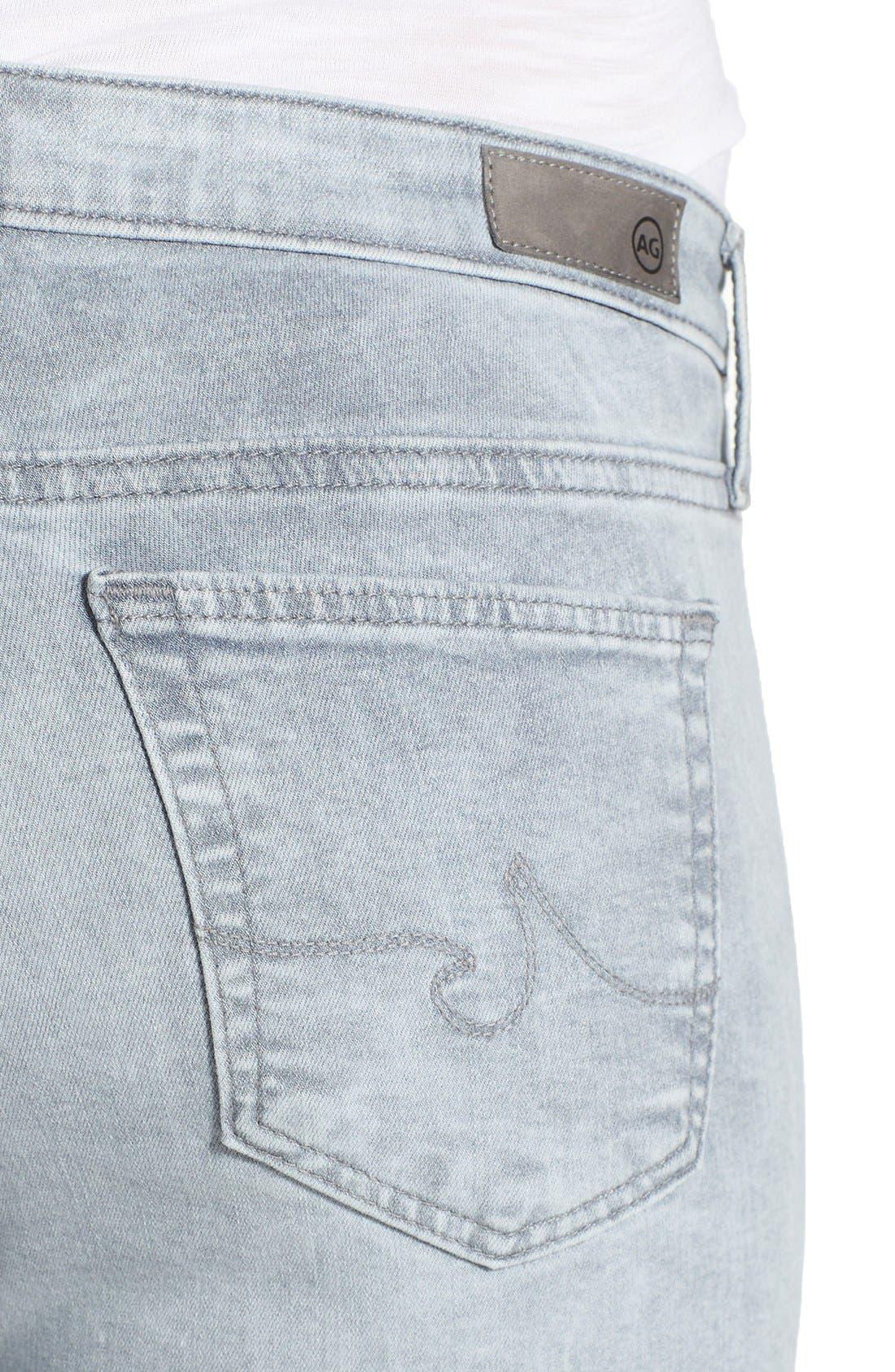 'The Legging' Raw Edge Ankle Skinny Jeans,                             Alternate thumbnail 8, color,