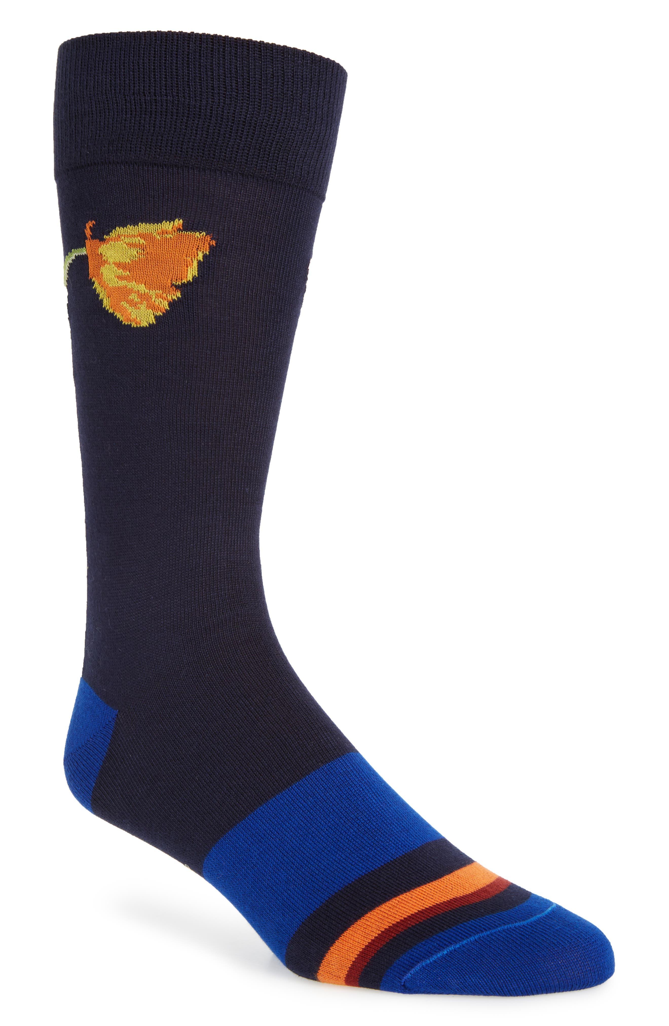 Mainline Floral Socks,                             Main thumbnail 2, color,