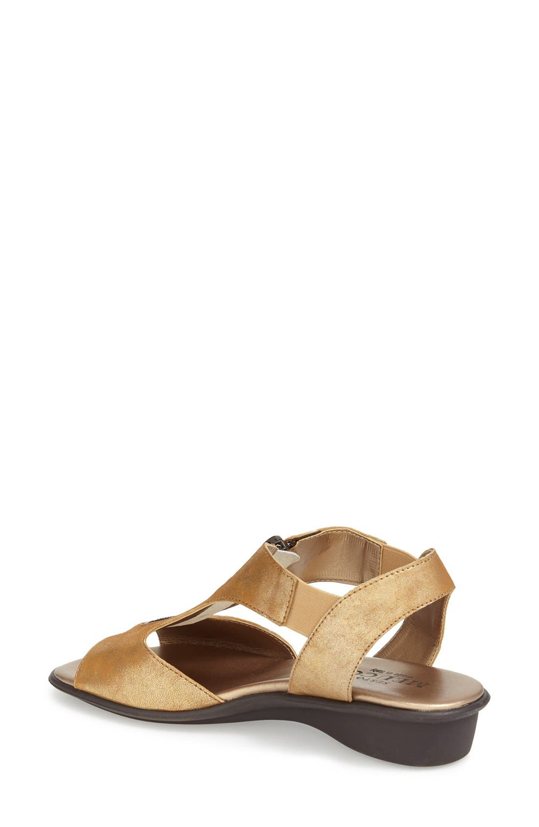 'Euclid' Sandal,                             Alternate thumbnail 2, color,                             BROWN LEATHER