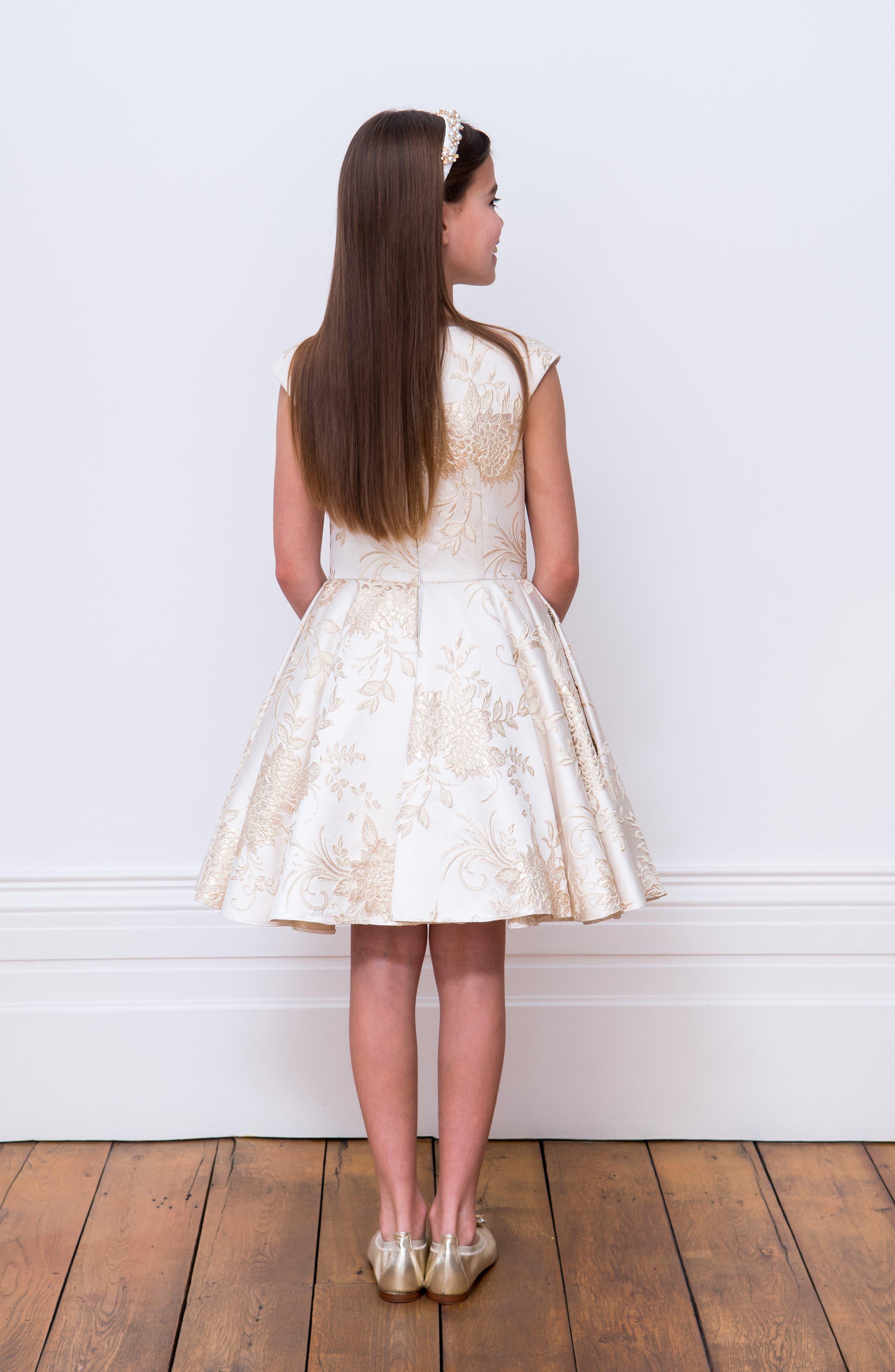 Brocade Dress,                             Alternate thumbnail 7, color,                             101