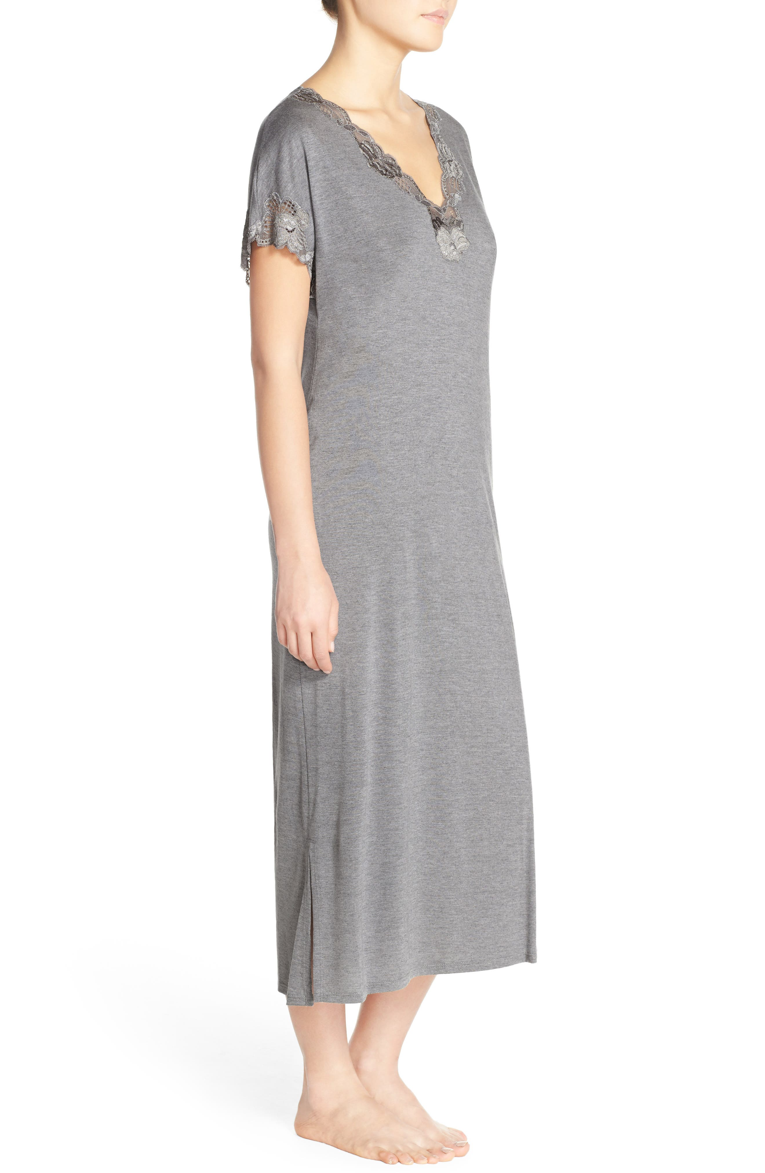 'Zen' Short Sleeve Nightgown,                             Alternate thumbnail 7, color,