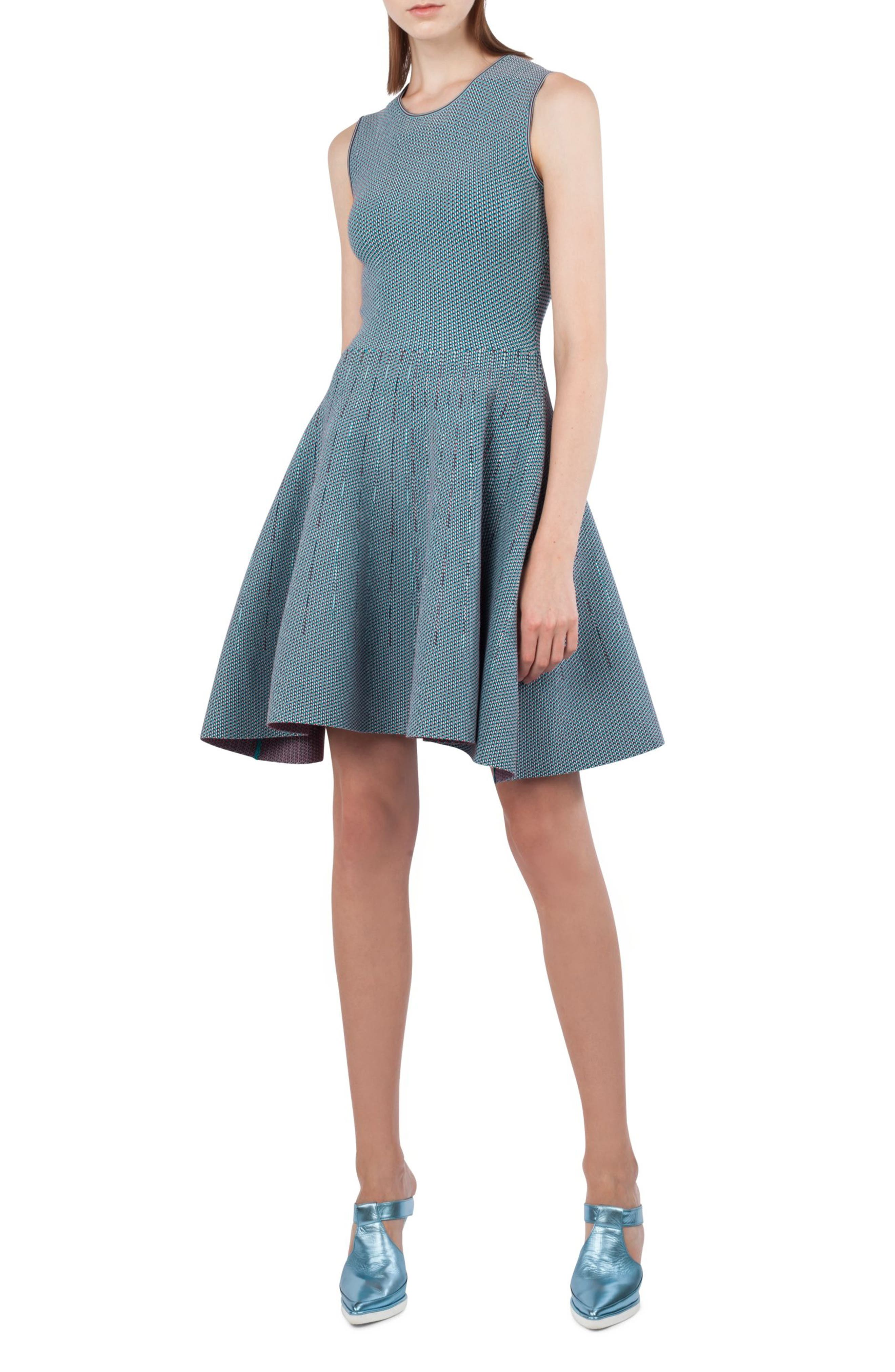 Fantasy Jacquard Knit Dress,                             Main thumbnail 1, color,                             471