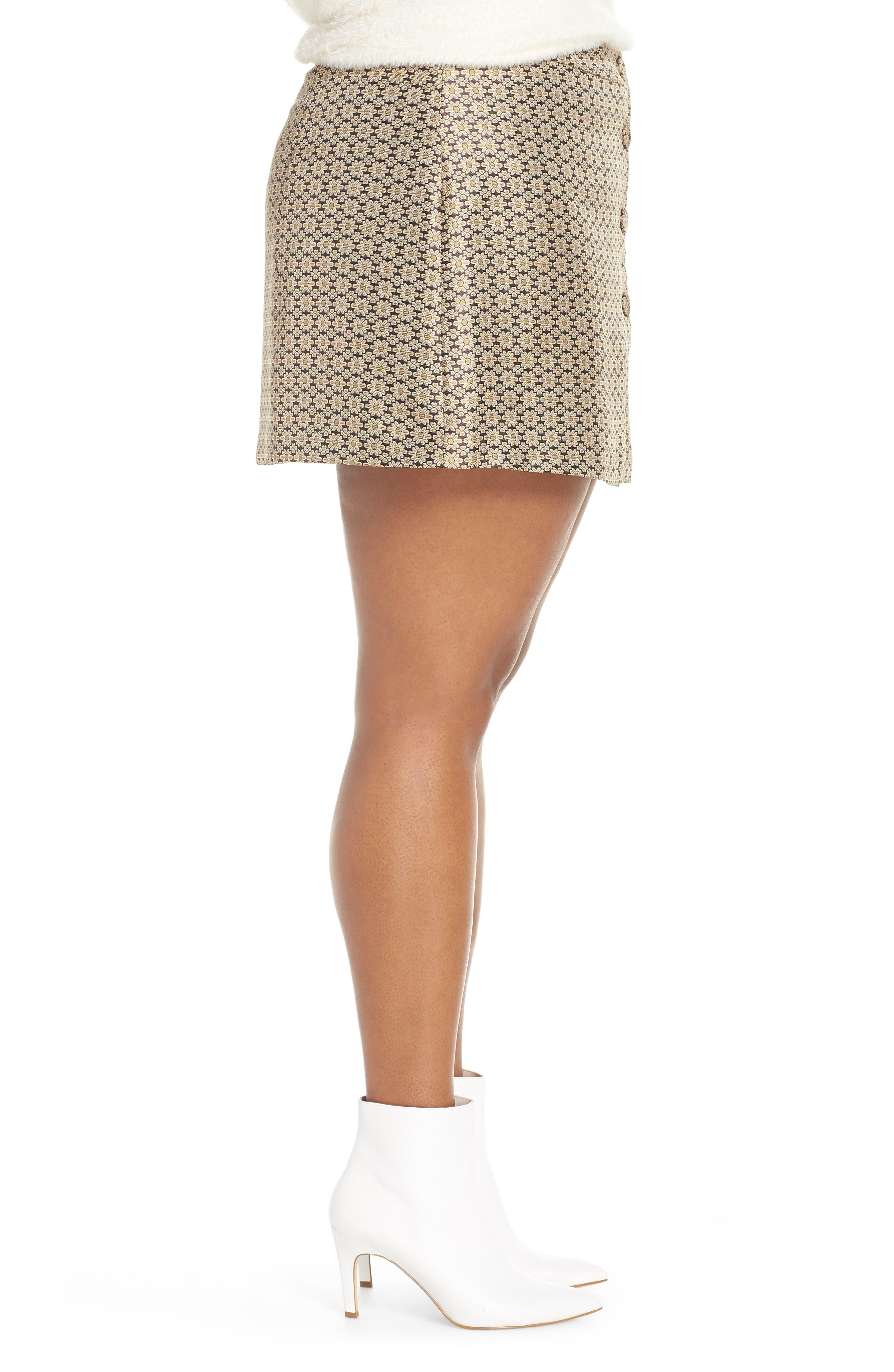Pelham Button Front Miniskirt,                             Alternate thumbnail 9, color,                             710