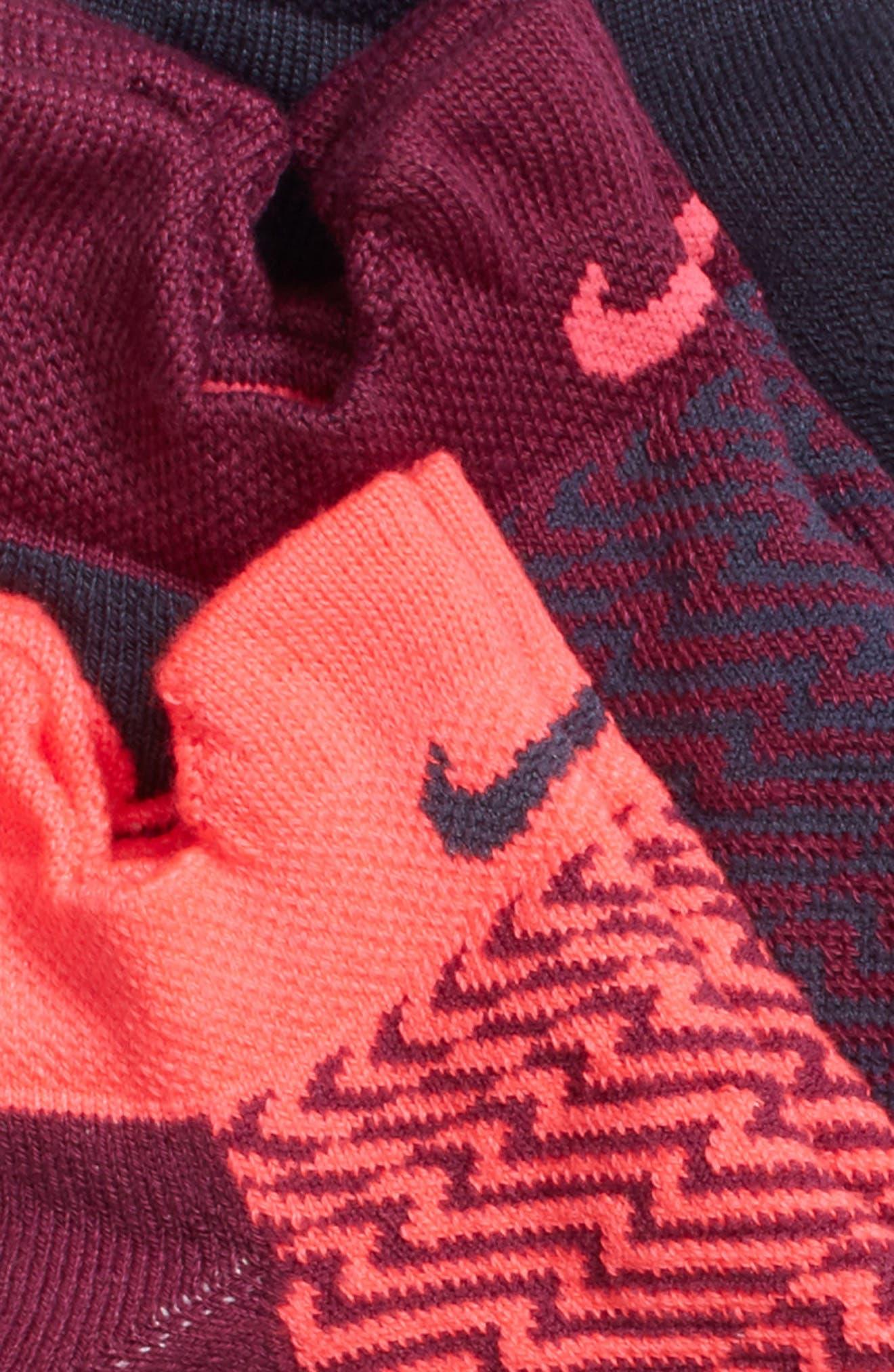 Elite 3-Pack Reflective Running Tab Socks,                             Alternate thumbnail 8, color,