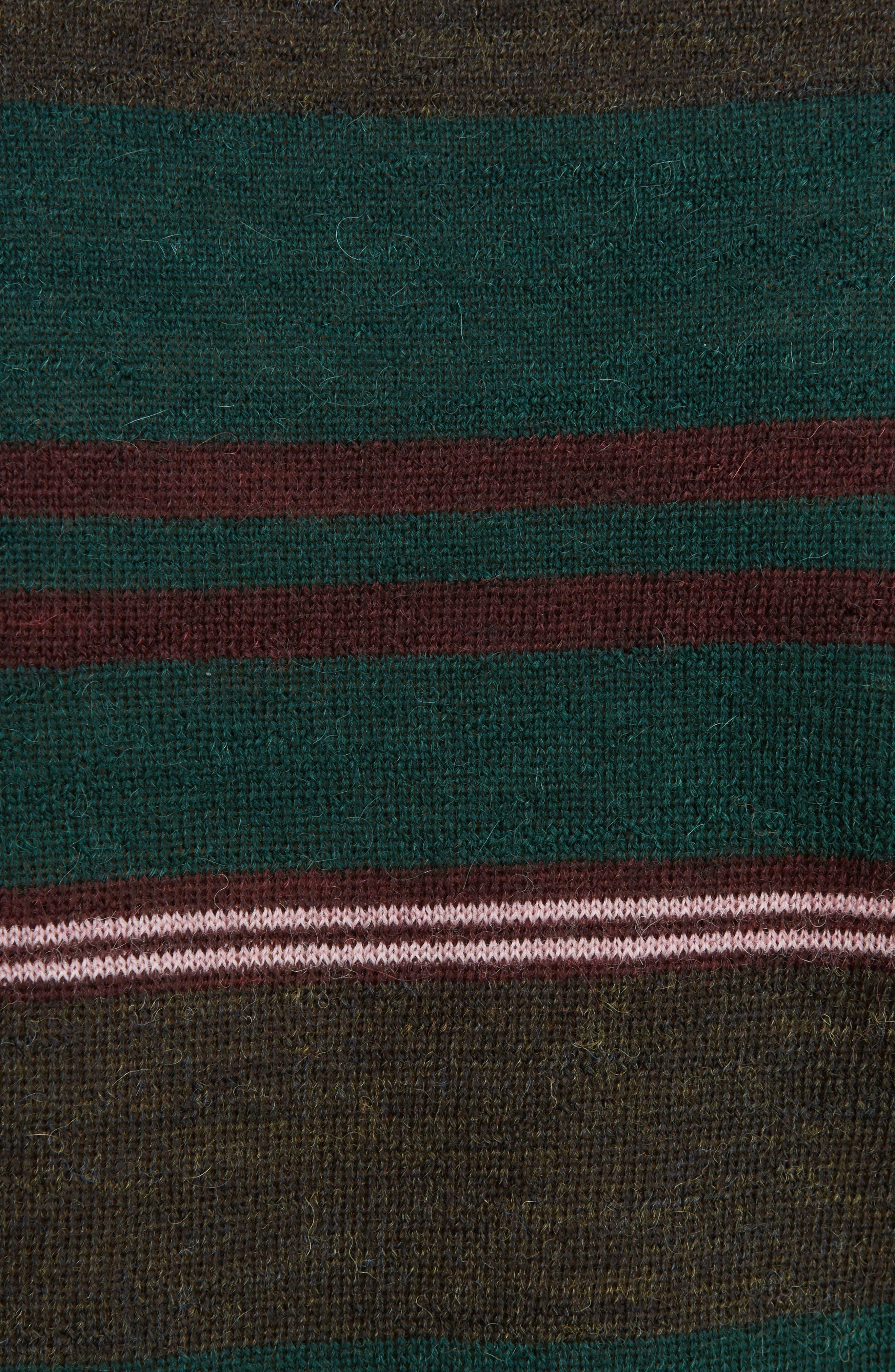 Multistripe Wool Sweater,                             Alternate thumbnail 5, color,                             300