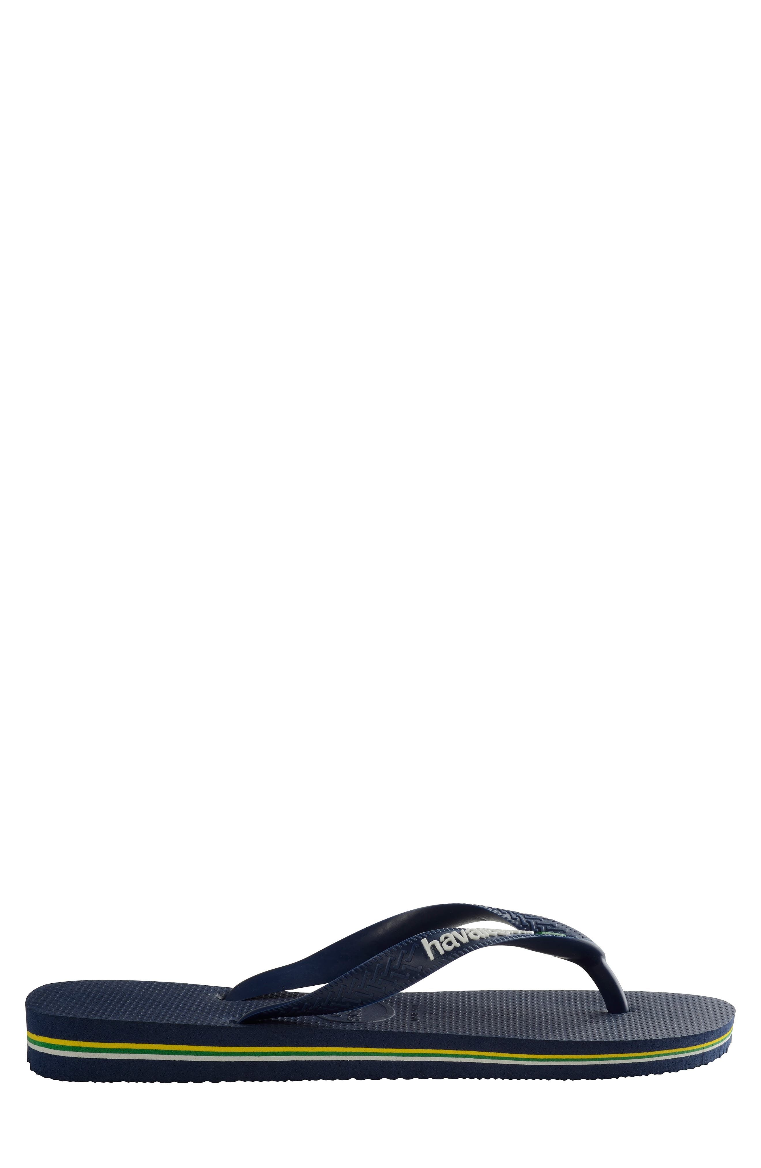 Brazil Flip Flop,                             Alternate thumbnail 4, color,                             NAVY BLUE