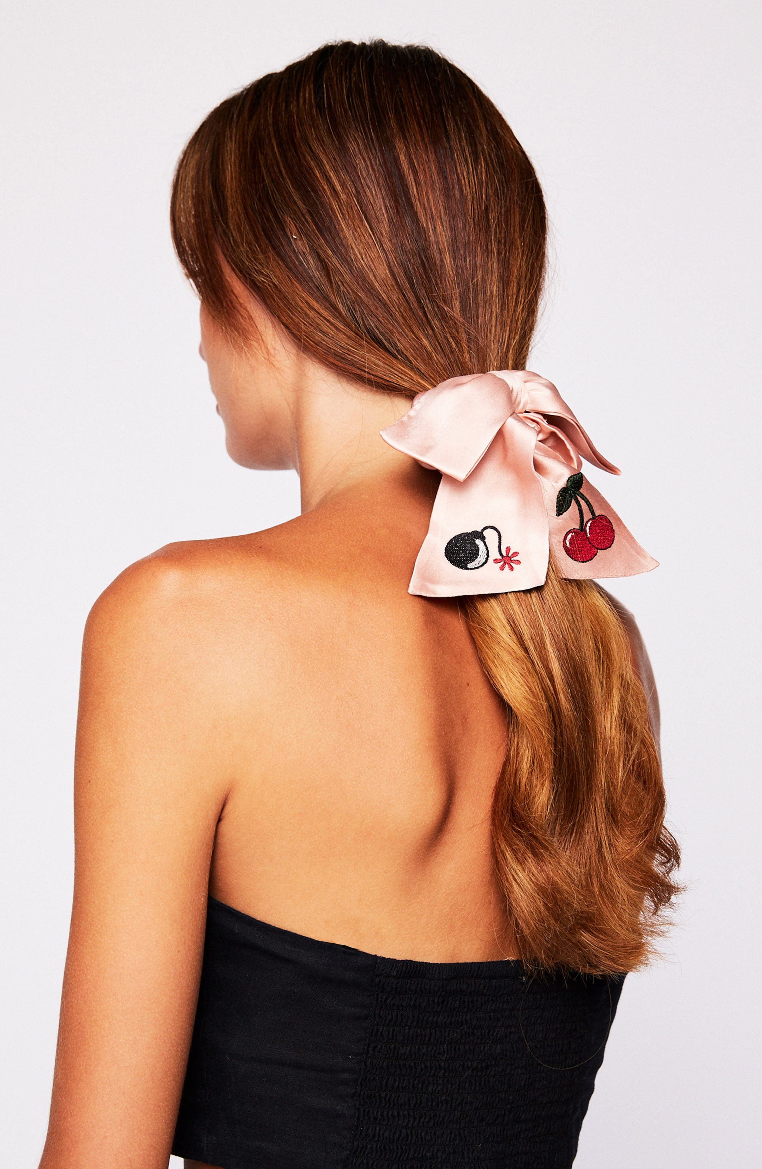 NEW FRIENDS COLONY,                             Cherry Bomb Bow Scrunchie,                             Alternate thumbnail 3, color,                             682