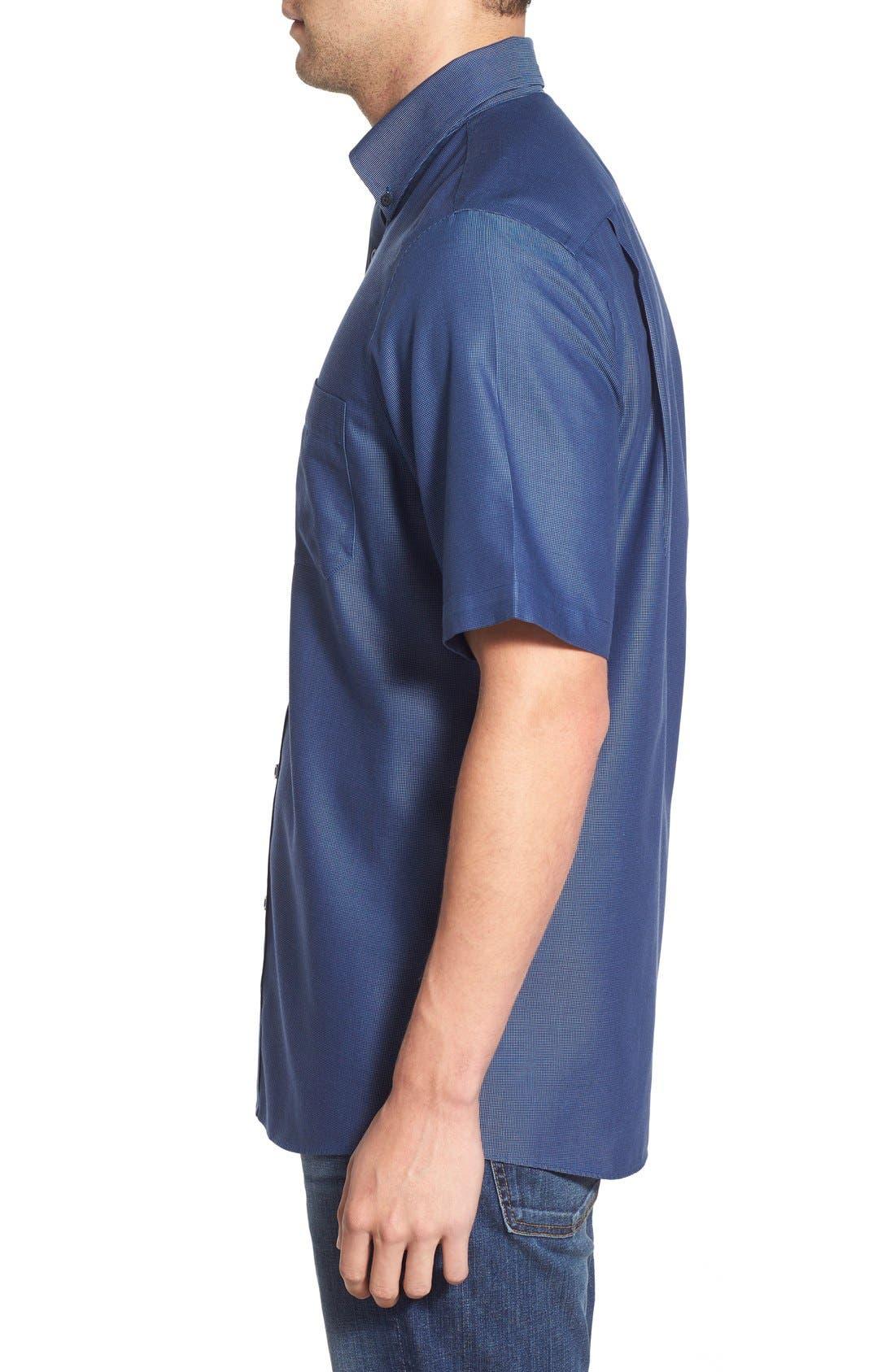 'Classic' Smartcare<sup>™</sup> Regular Fit Short Sleeve Cotton Sport Shirt,                             Alternate thumbnail 70, color,