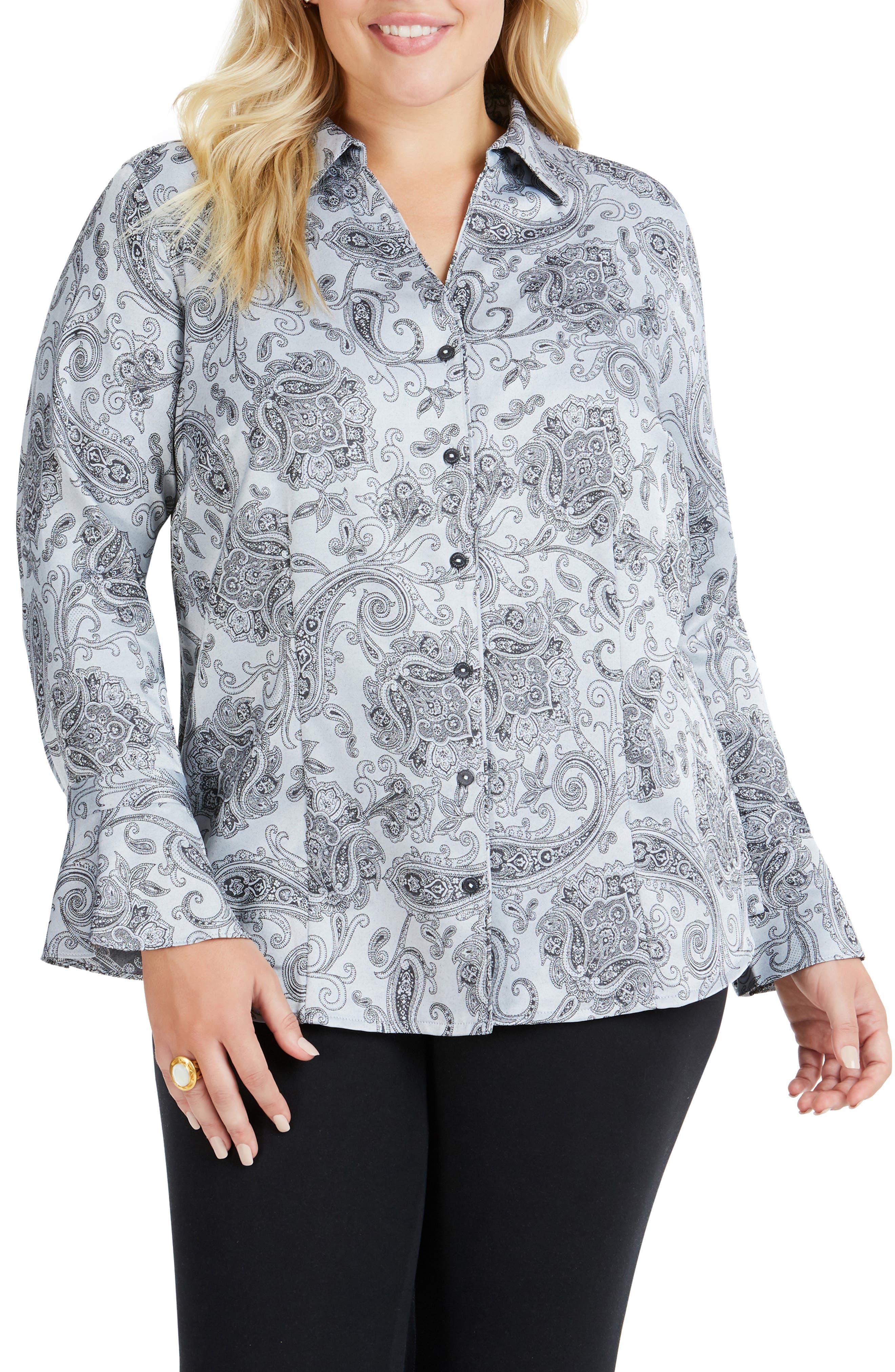 Ellery Paisley Jacquard Shirt,                             Main thumbnail 1, color,                             STERLING
