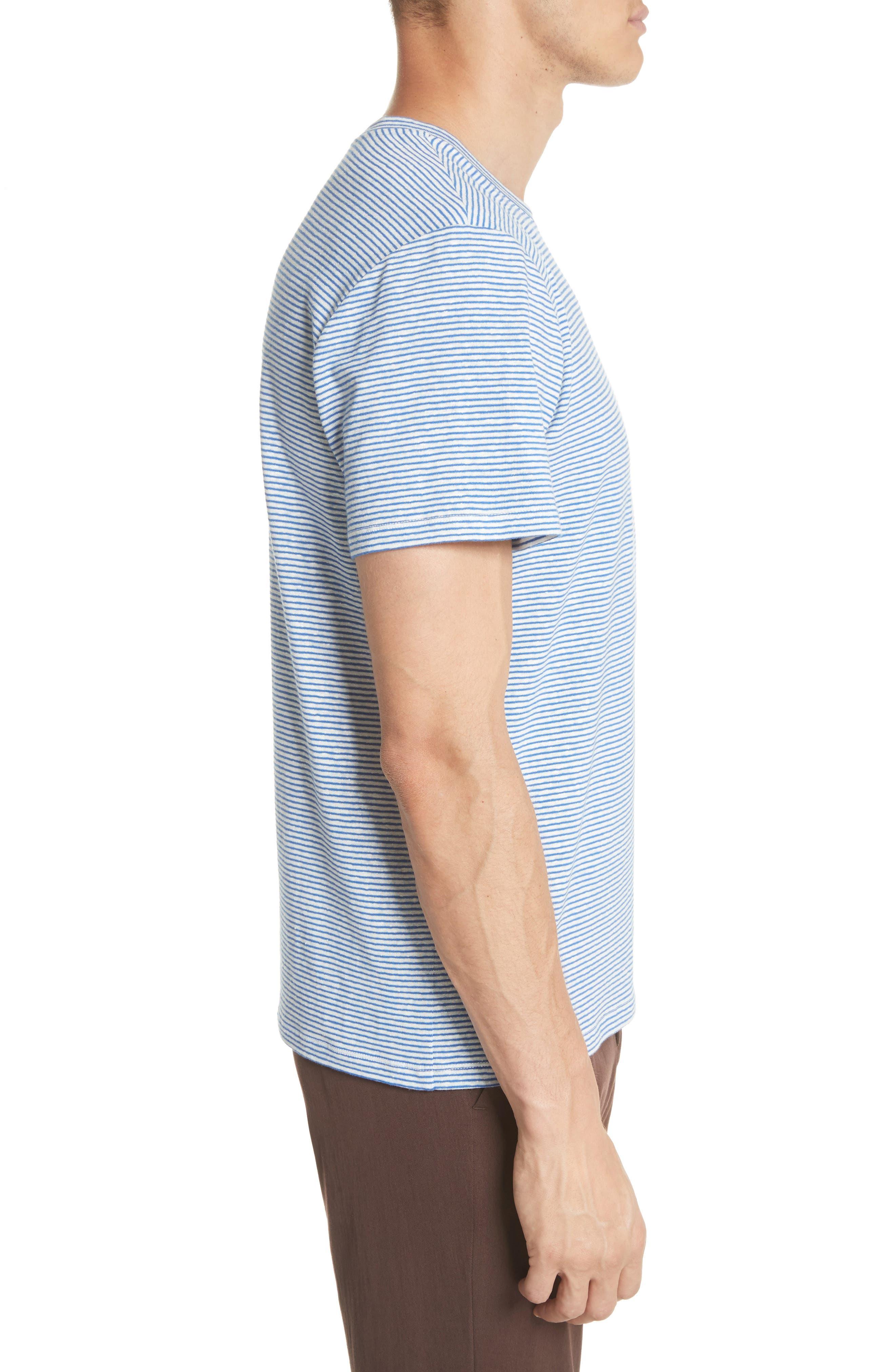 Jimmy Stripe T-Shirt,                             Alternate thumbnail 3, color,                             BLUE
