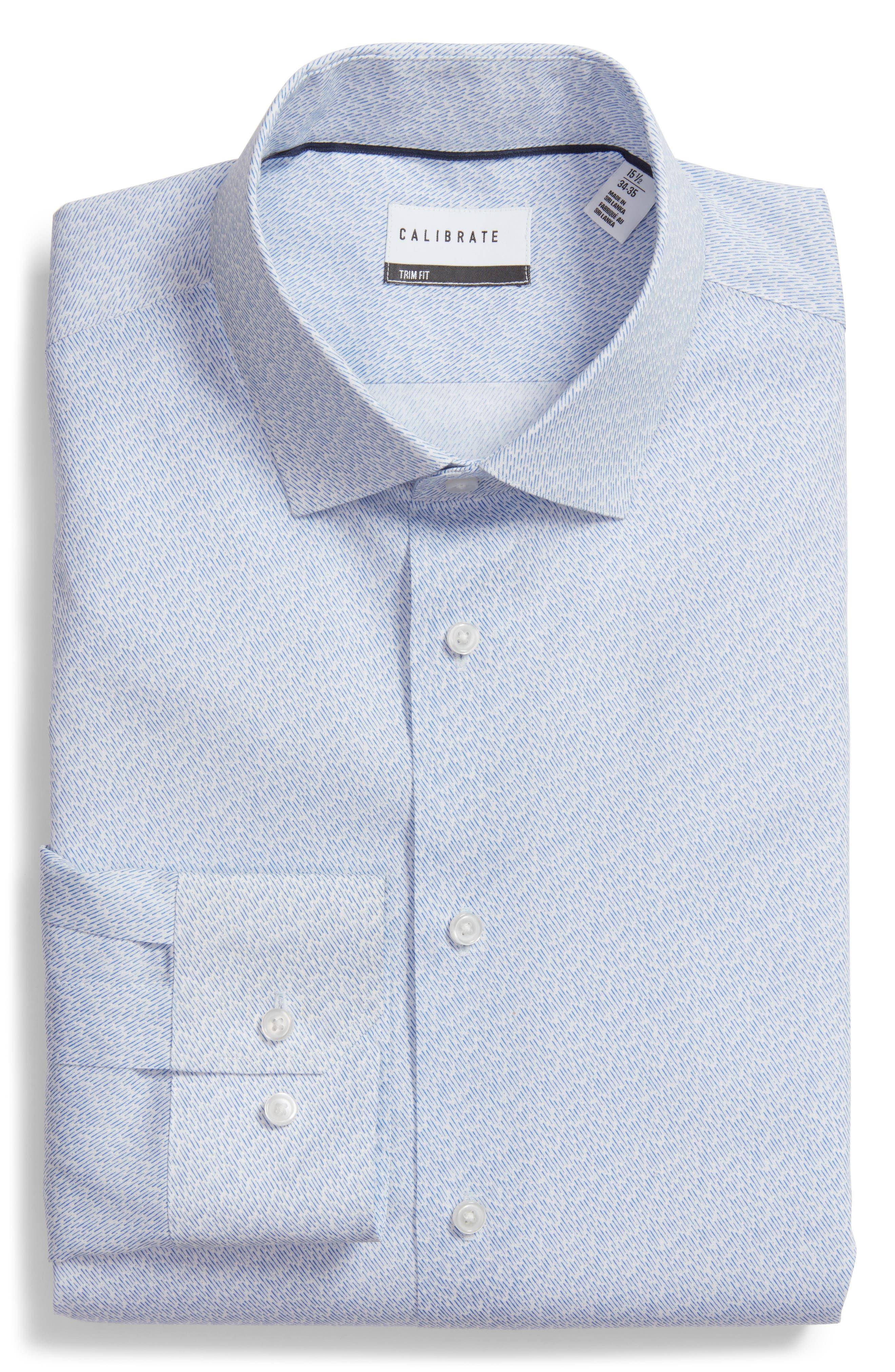 Trim Fit Print Dress Shirt,                         Main,                         color, 450