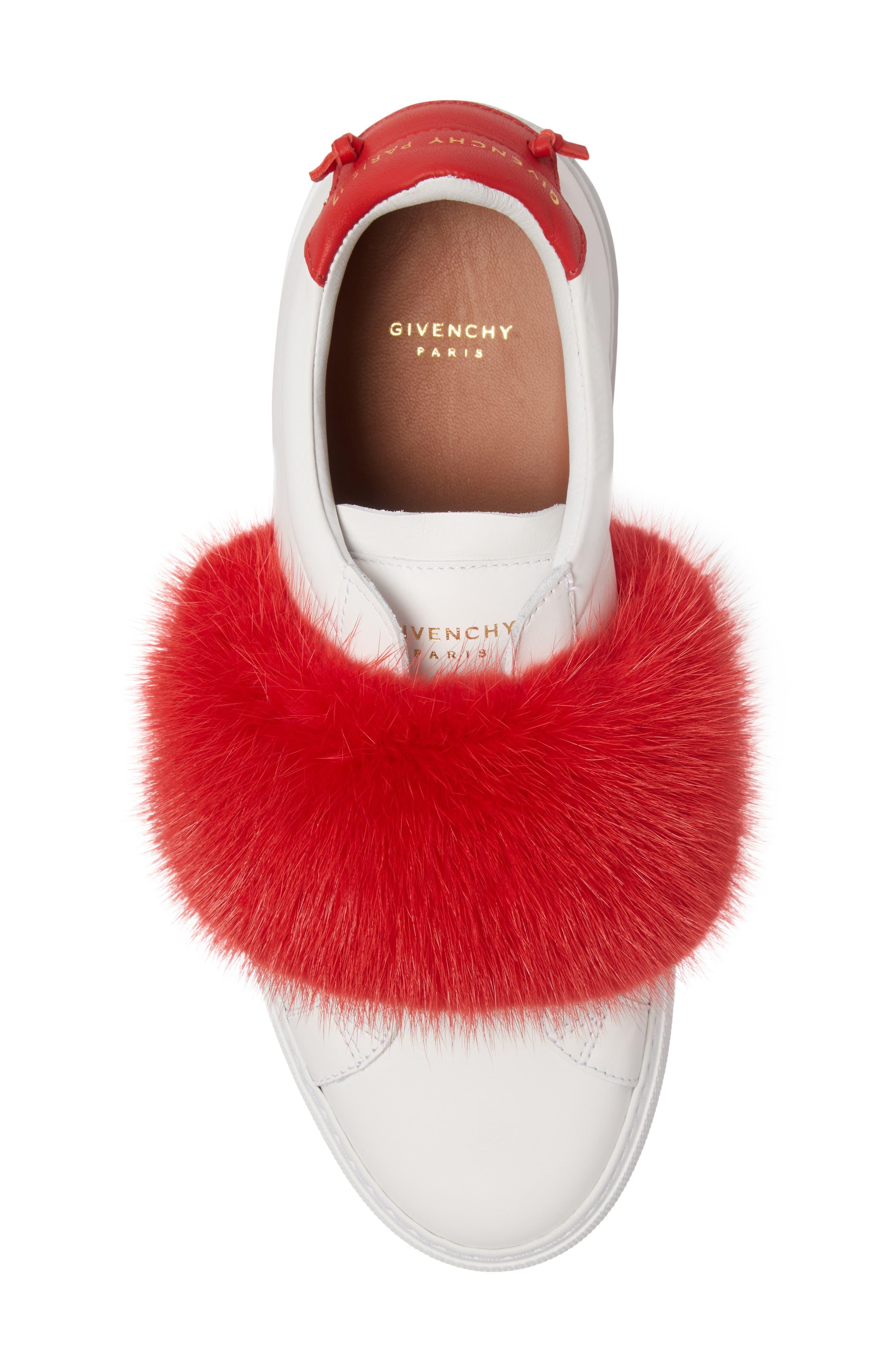 Urban Street Slip-On Sneaker with Genuine Mink Fur Trim,                             Alternate thumbnail 15, color,