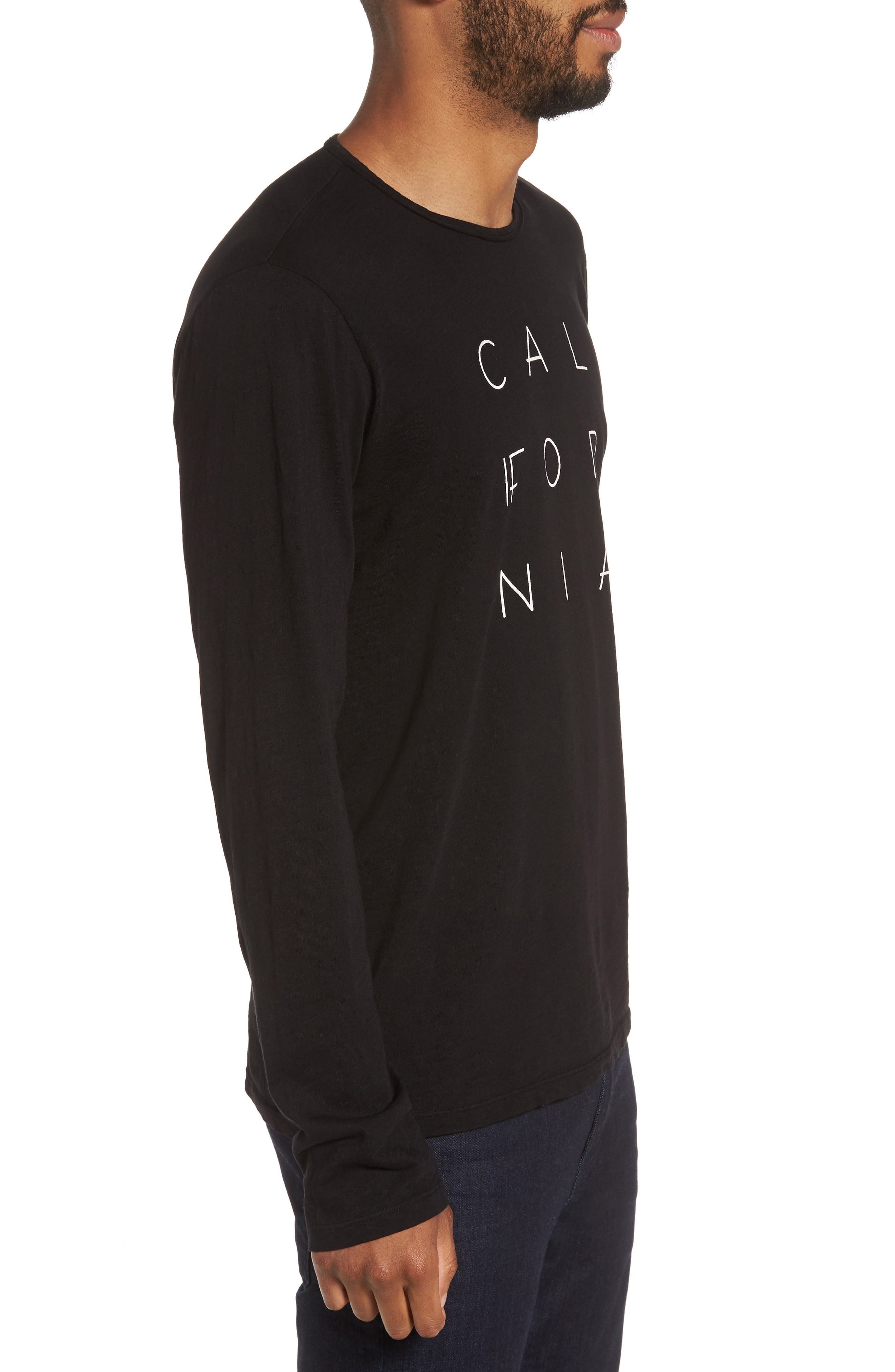 California Graphic Long-Sleeve T-Shirt,                             Alternate thumbnail 3, color,                             001