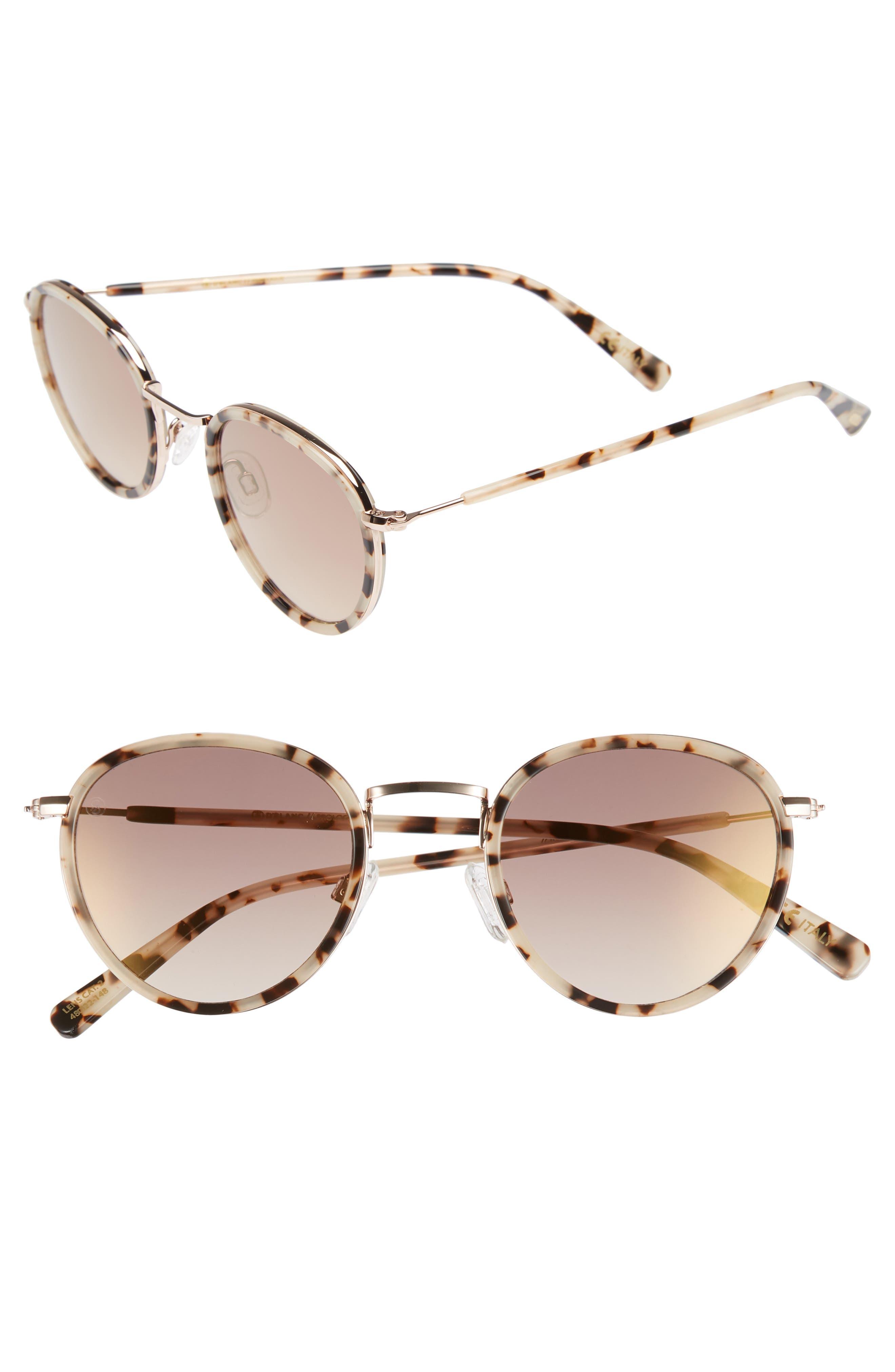 D'BLANC Prologue 48mm Round Sunglasses,                         Main,                         color, 200
