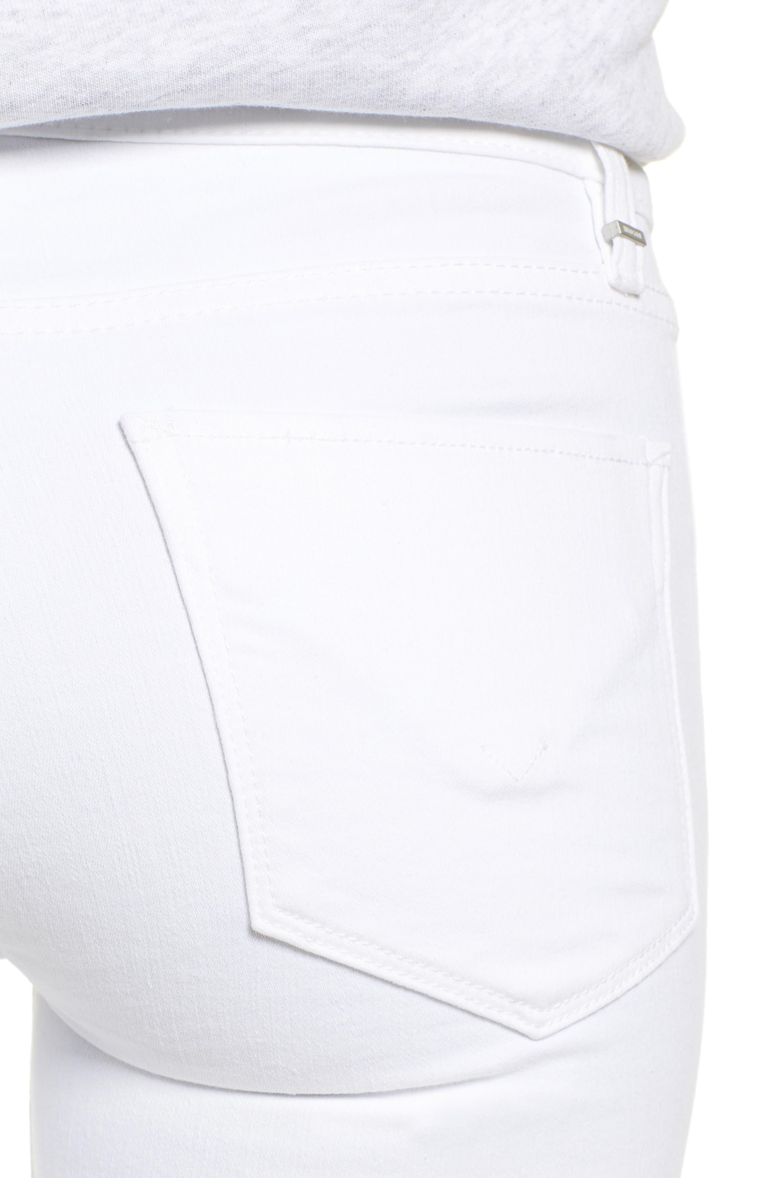 Amelia Cuff Bermuda Shorts,                             Alternate thumbnail 4, color,                             WHITE