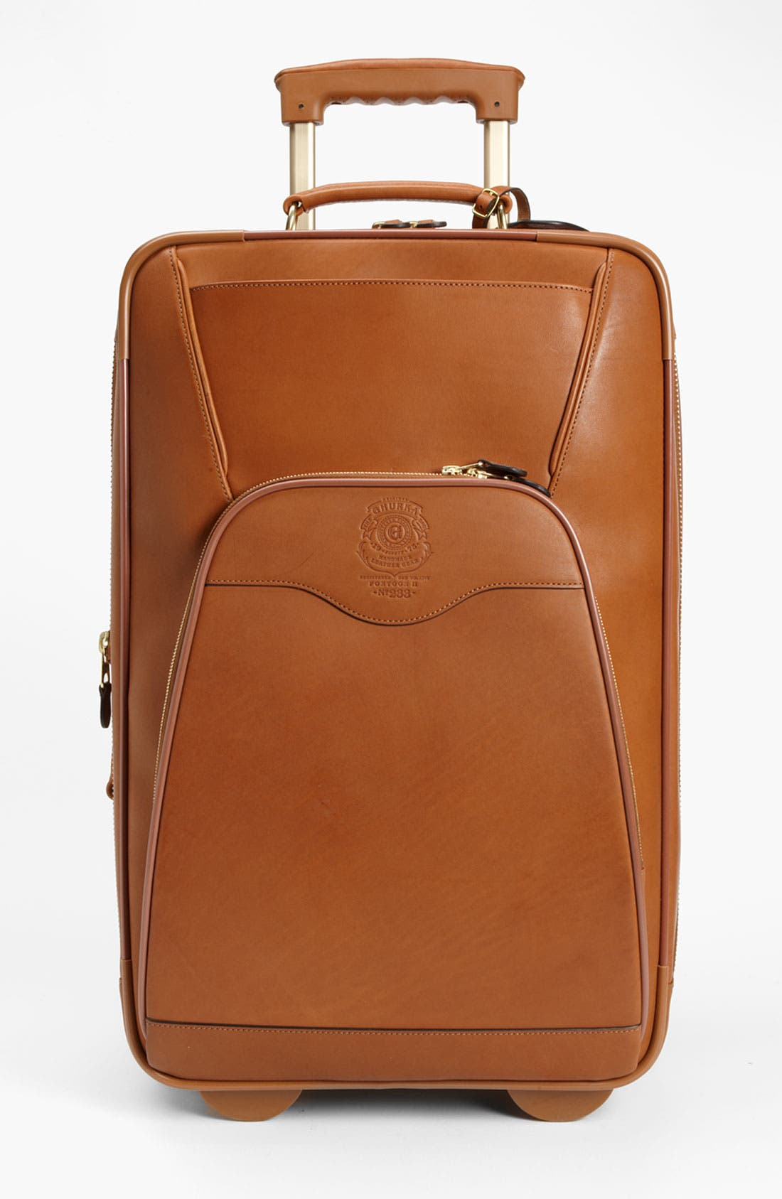 'Pontoon II' Leather Carry-On Suitcase, Main, color, 260