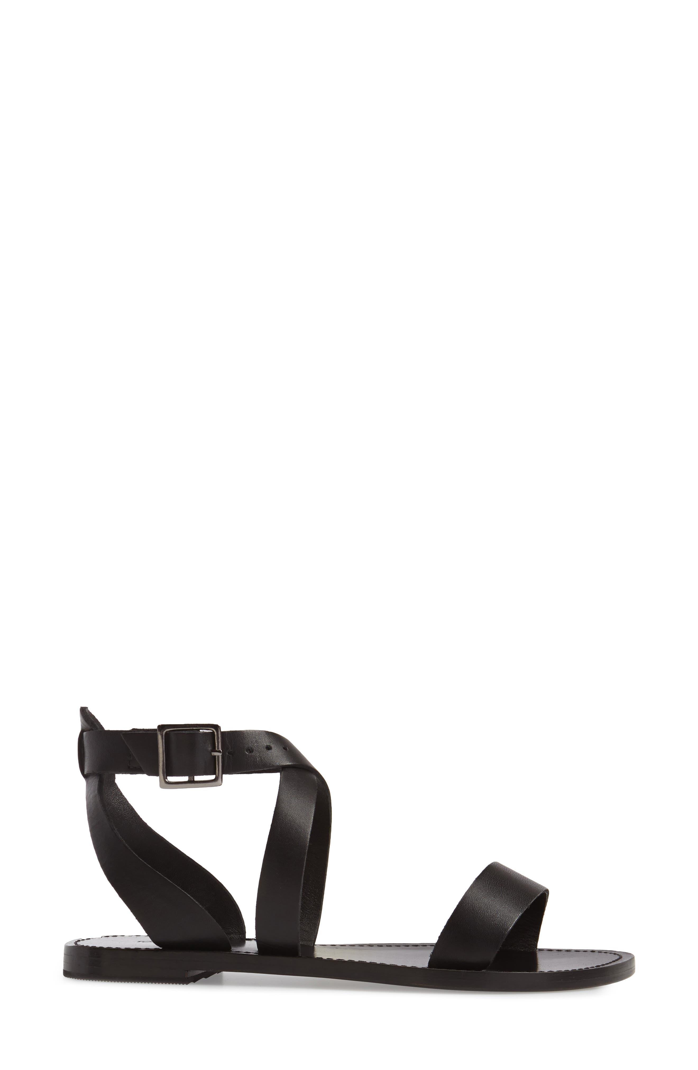 Flo Ankle Strap Sandal,                             Alternate thumbnail 3, color,                             001