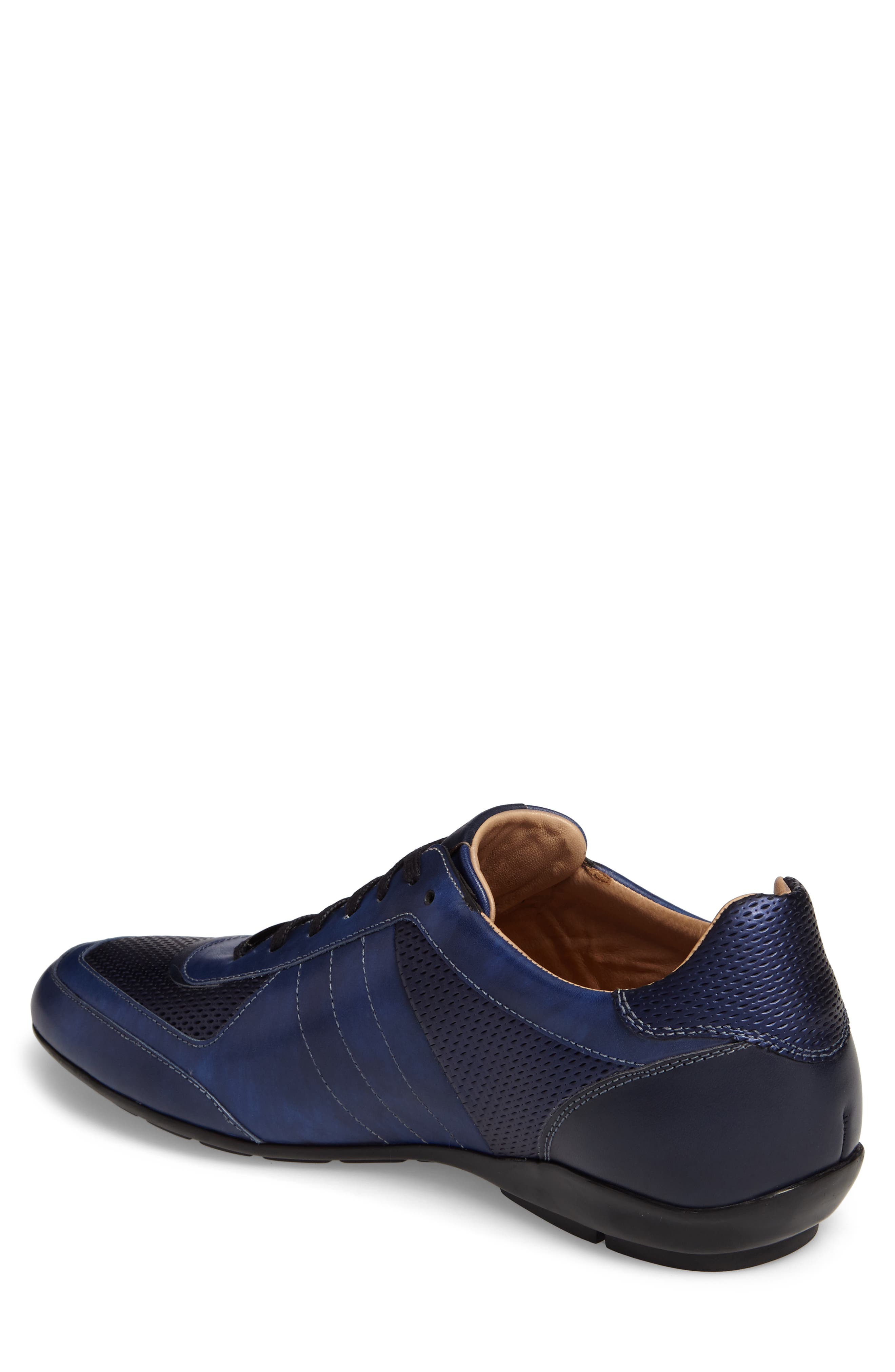 MEZLAN,                             Redon Embossed Sneaker,                             Alternate thumbnail 2, color,                             BLUE LEATHER