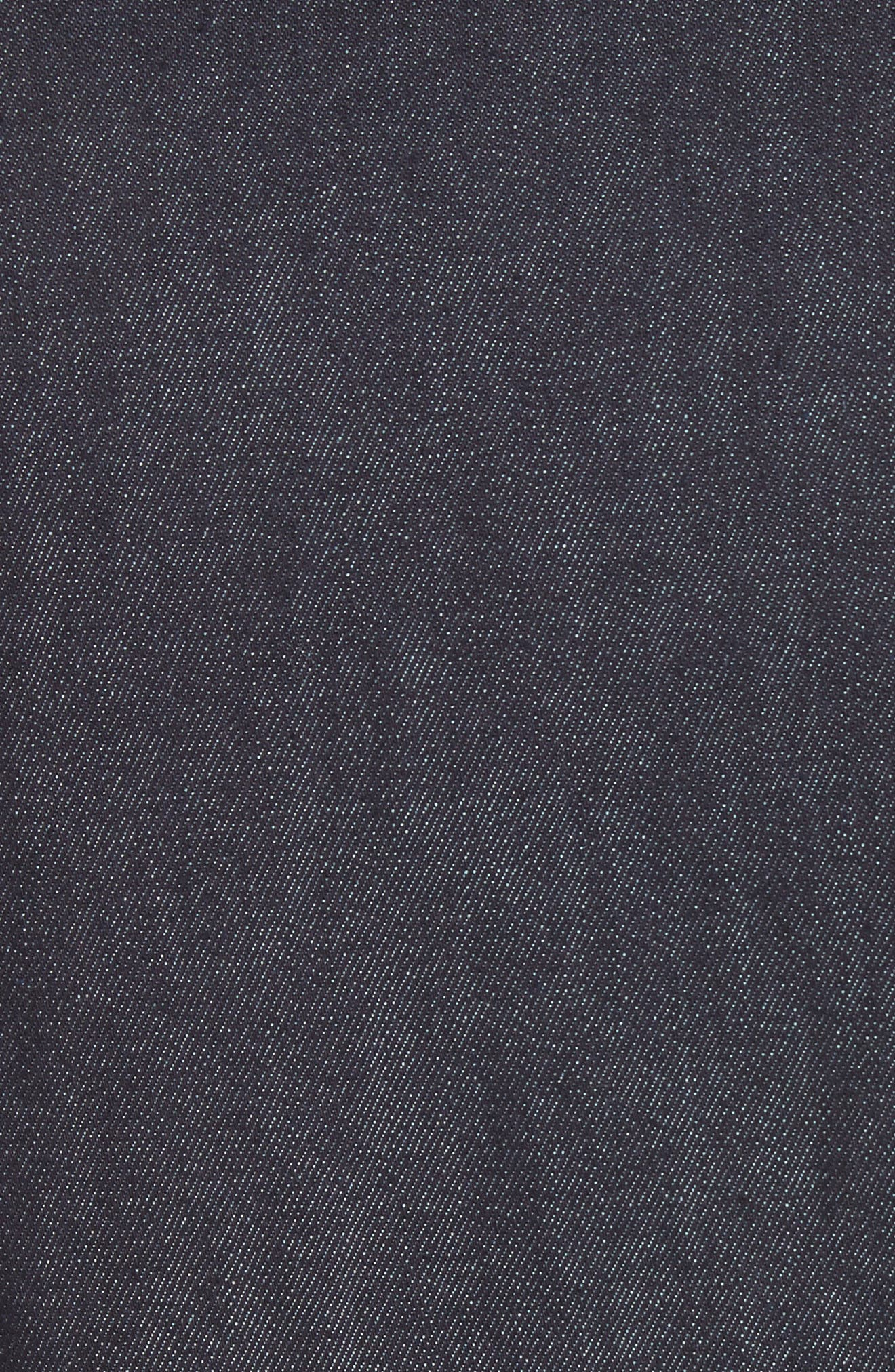 embroidered denim shirtdress,                             Alternate thumbnail 5, color,                             429