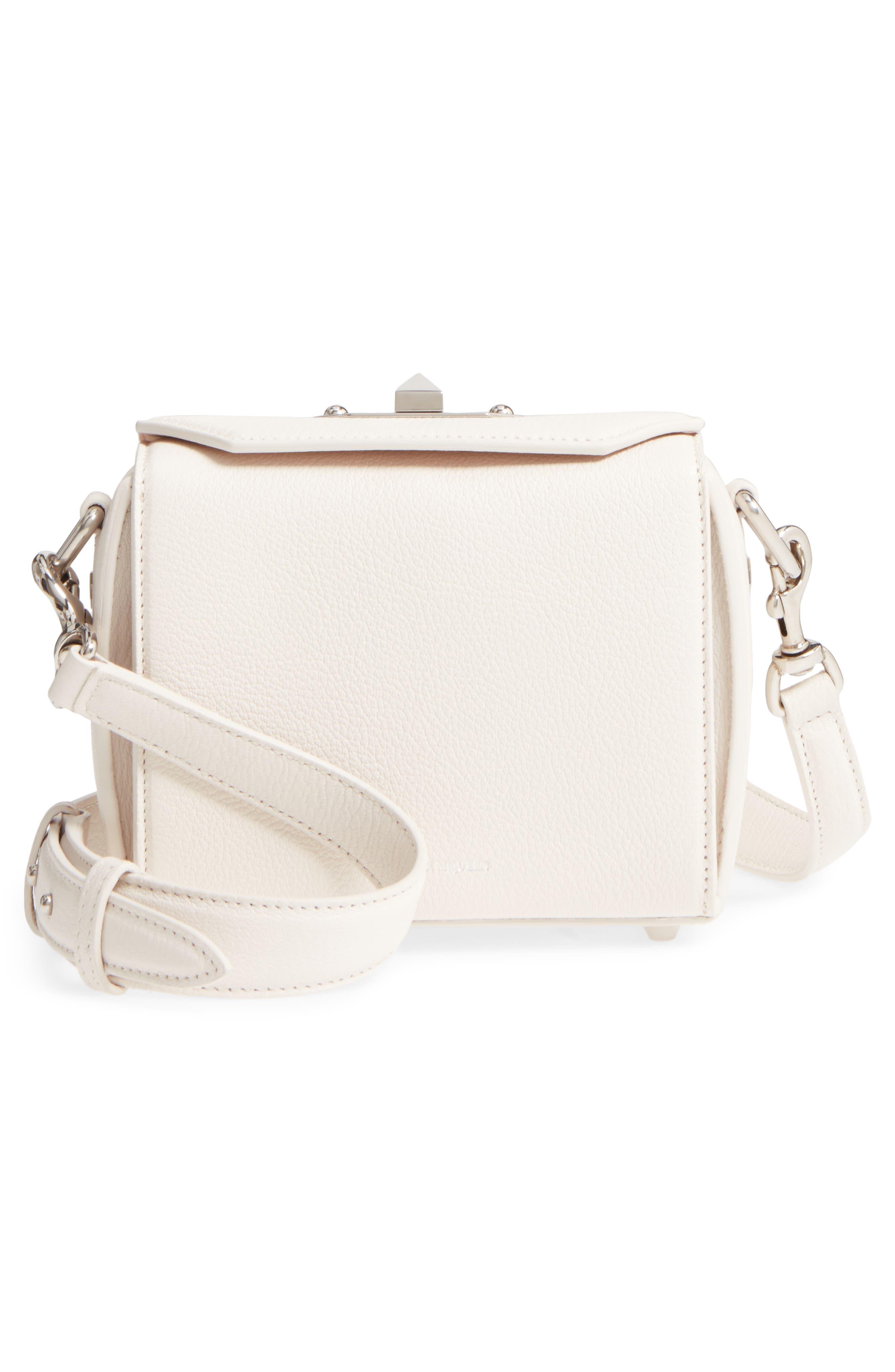 Box Bag 16 Grained Leather Bag,                             Alternate thumbnail 3, color,                             900