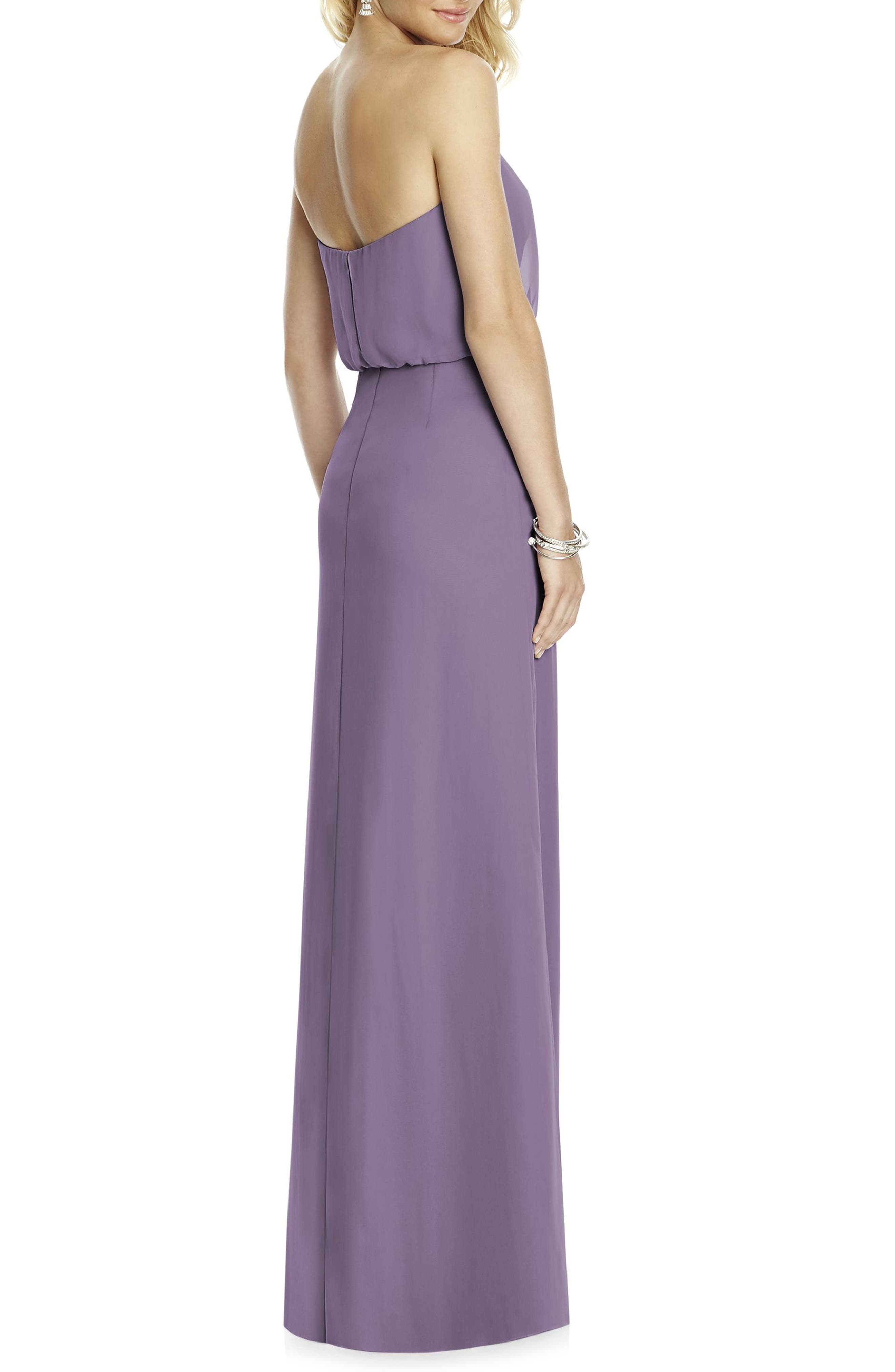 Strapless Blouson Chiffon Gown,                             Alternate thumbnail 2, color,                             517