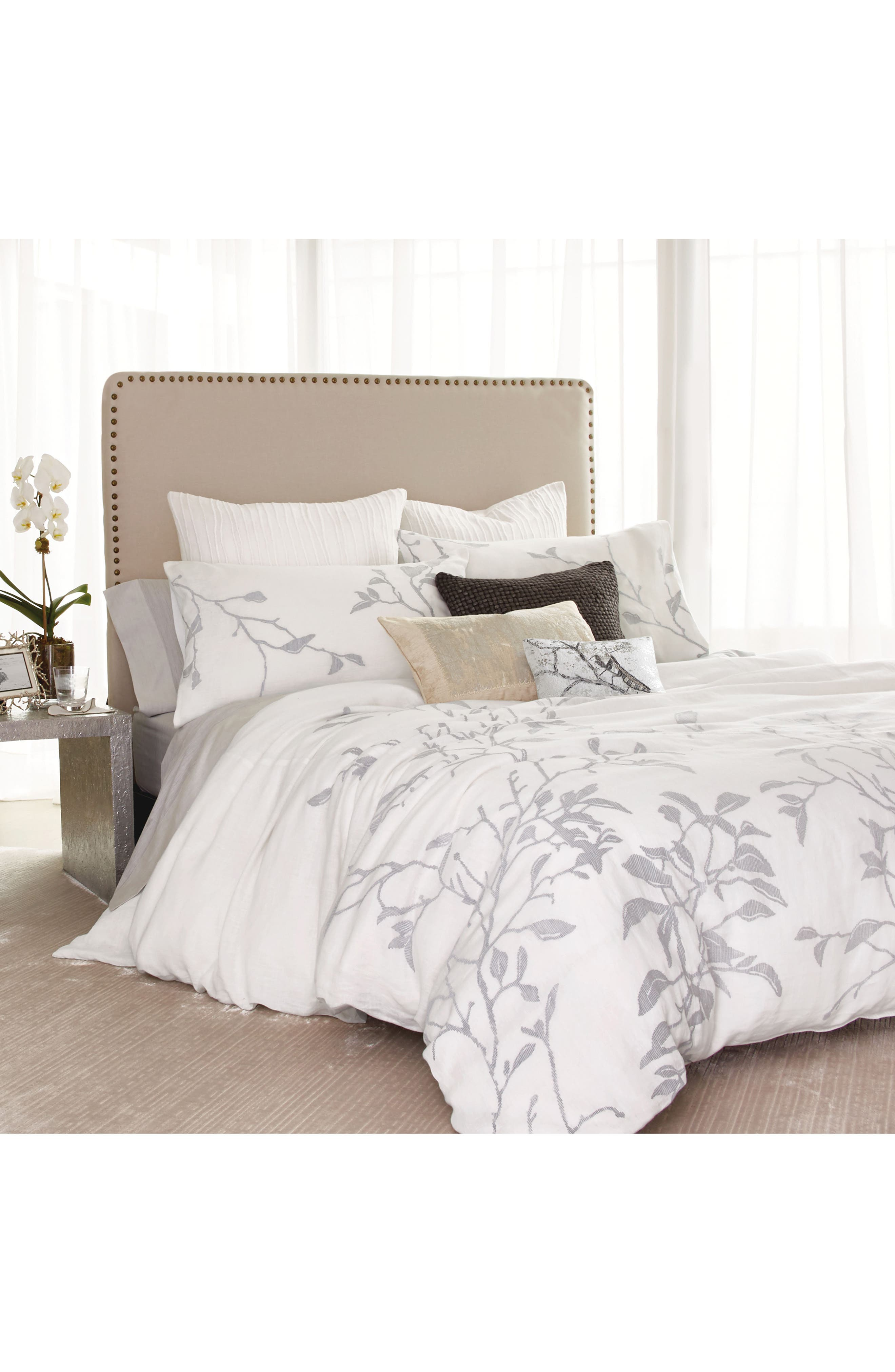 Michael Aram Branch Duvet Cover Size King  White