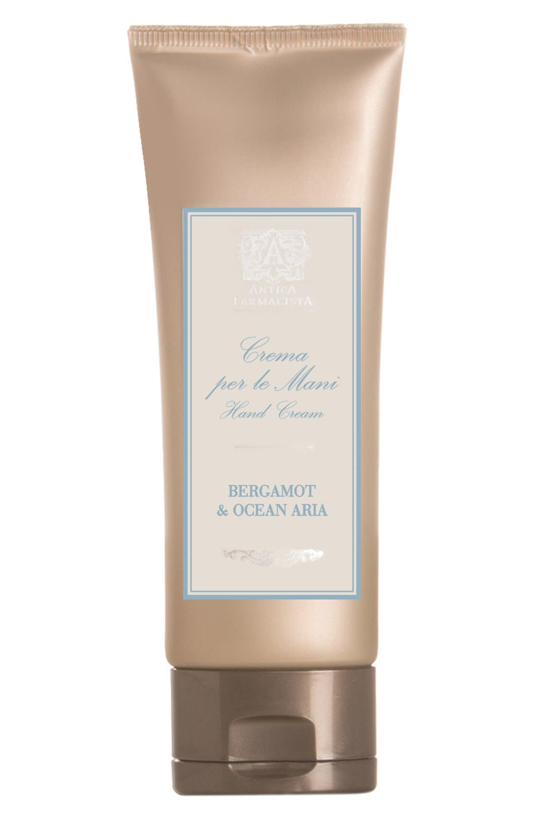 'Bergamot & Ocean Aria' Hand Cream,                             Main thumbnail 1, color,