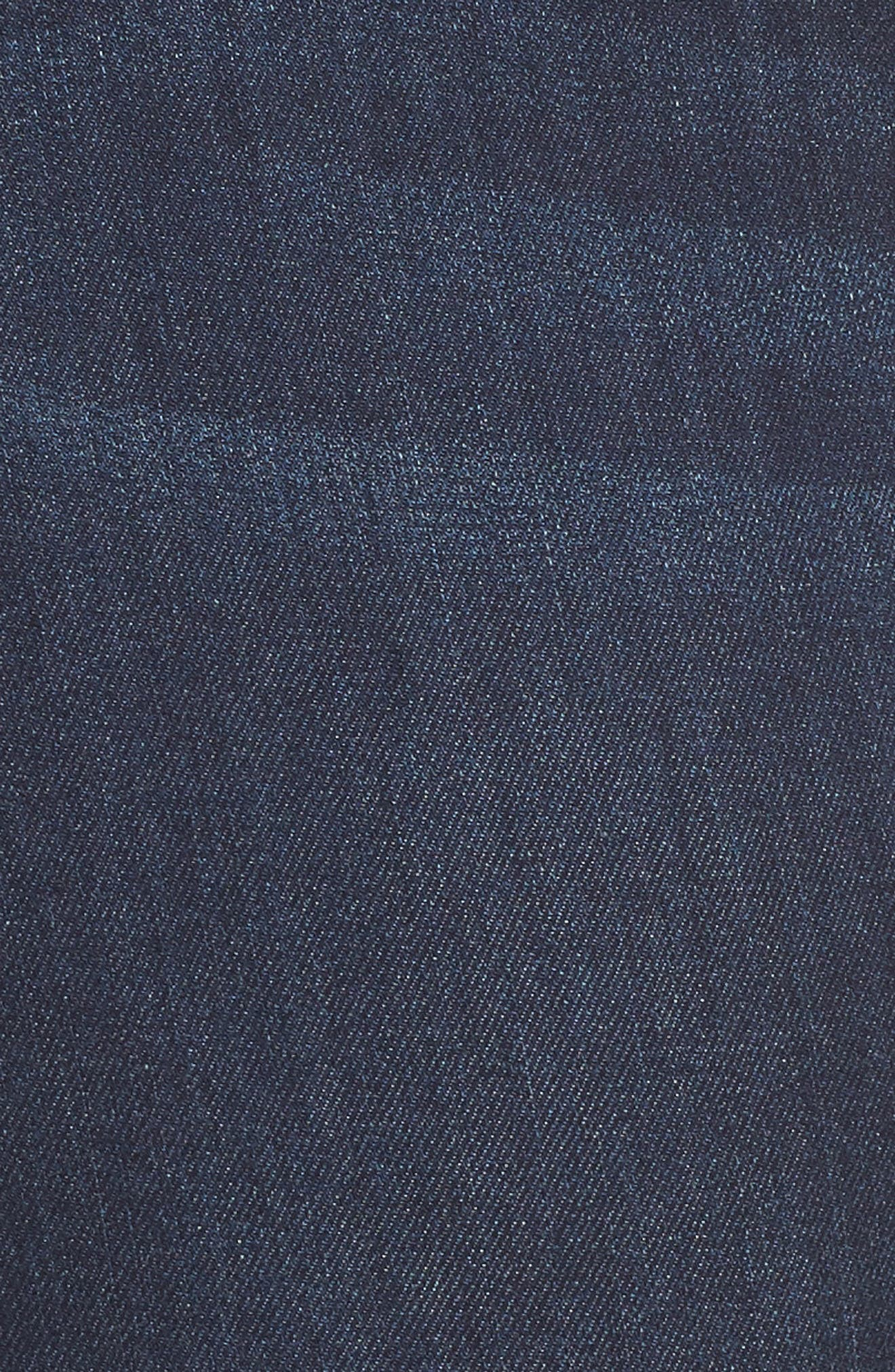 Sienna Pull-On Denim Capri Pants,                             Alternate thumbnail 6, color,                             GRIFFITH SUPER DARK