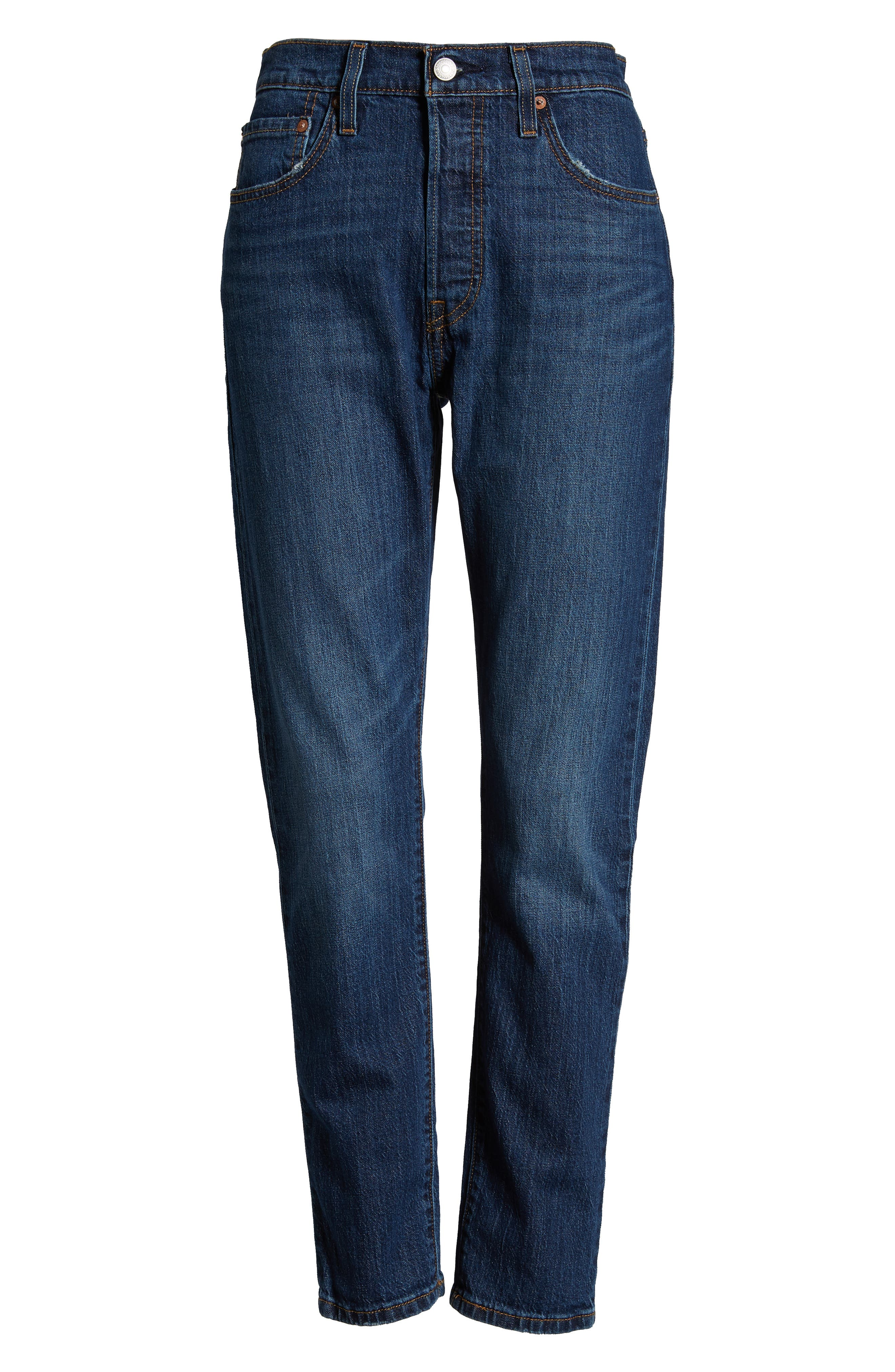 501<sup>®</sup> High Waist Ankle Skinny Jeans,                             Alternate thumbnail 4, color,                             NEAT FREAK