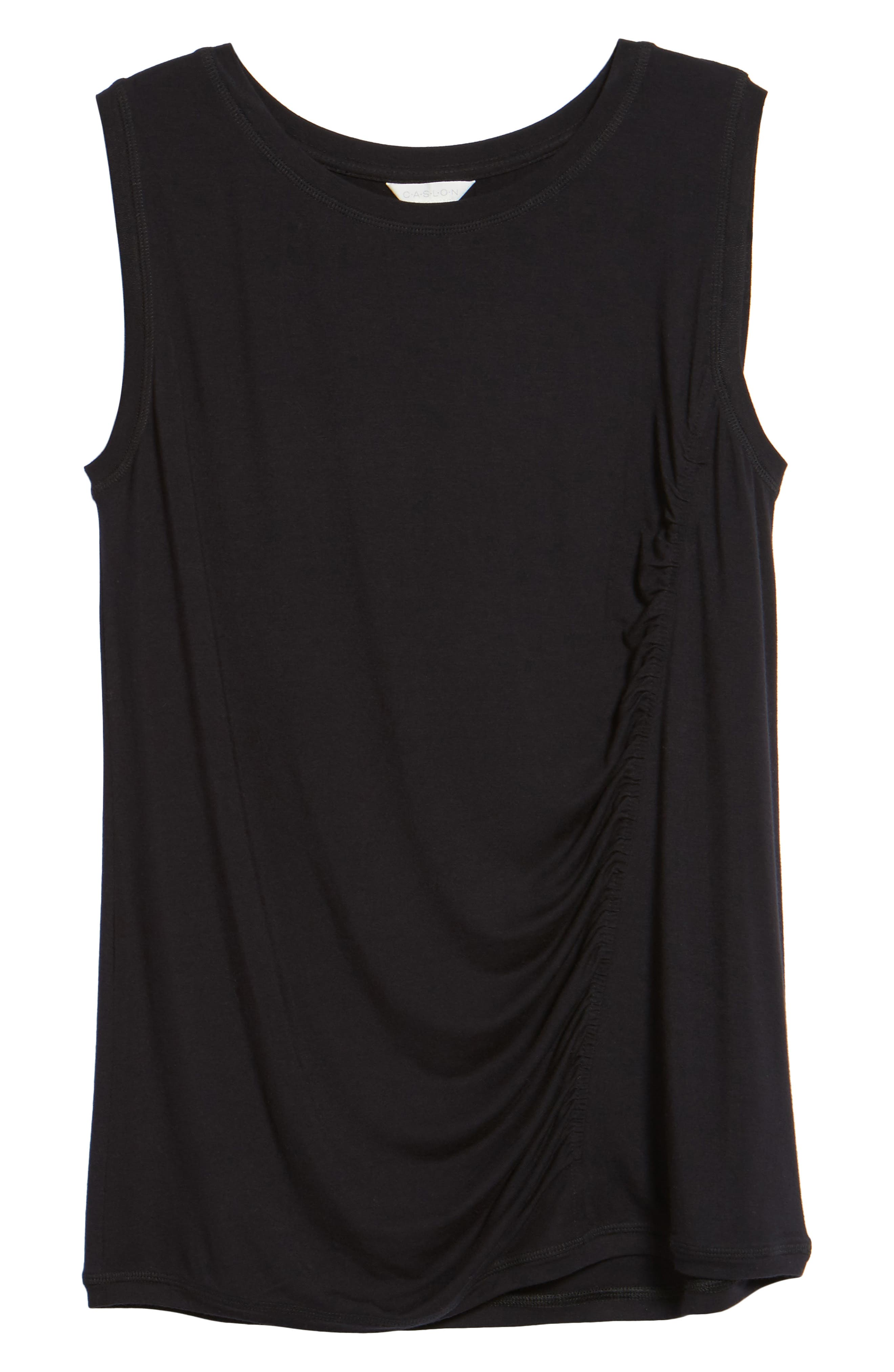 Off-Duty Shirred Sleeveless Tee,                             Alternate thumbnail 26, color,