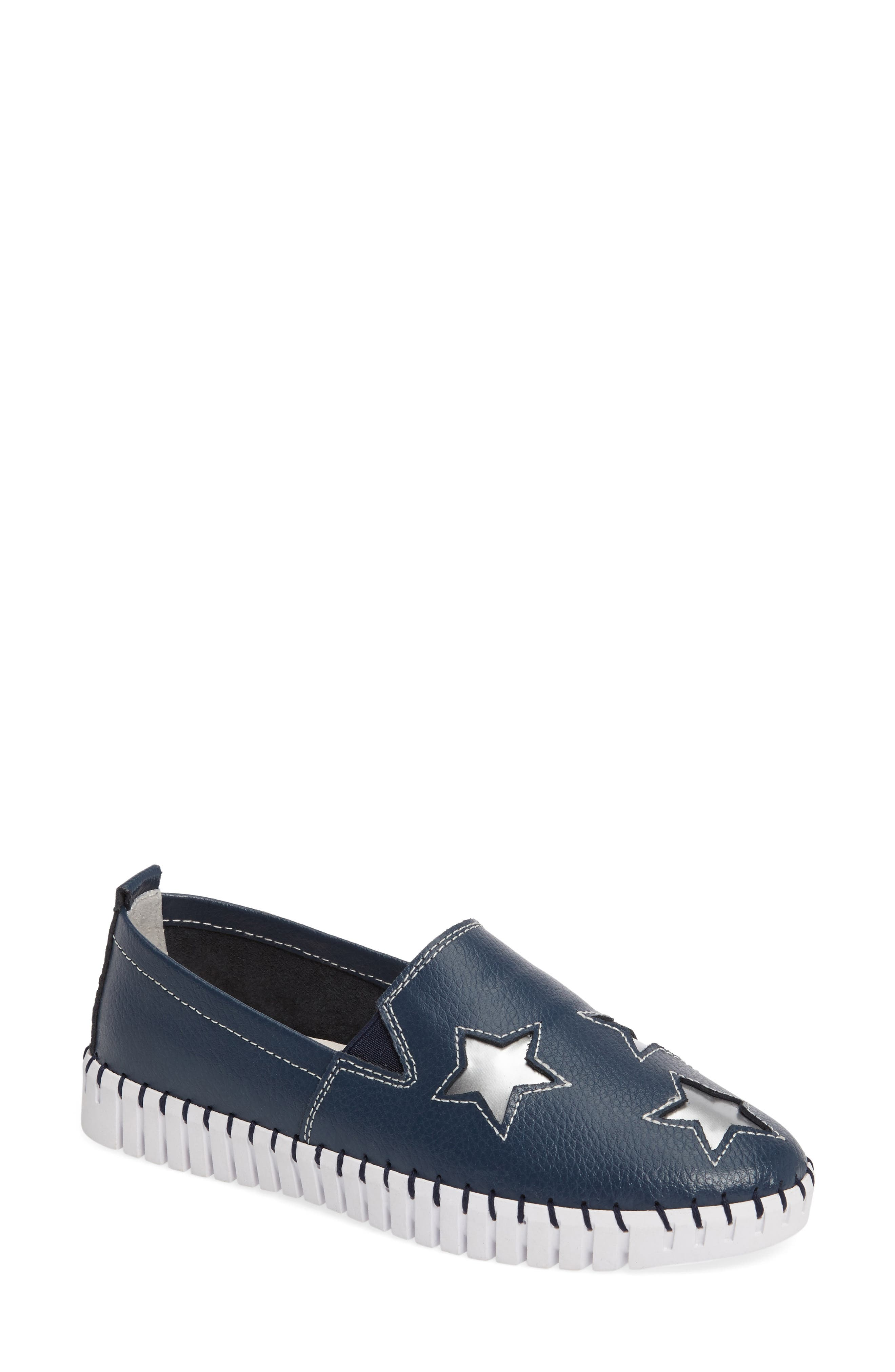 TW37 Slip-On Sneaker,                         Main,                         color, NAVY LEATHER