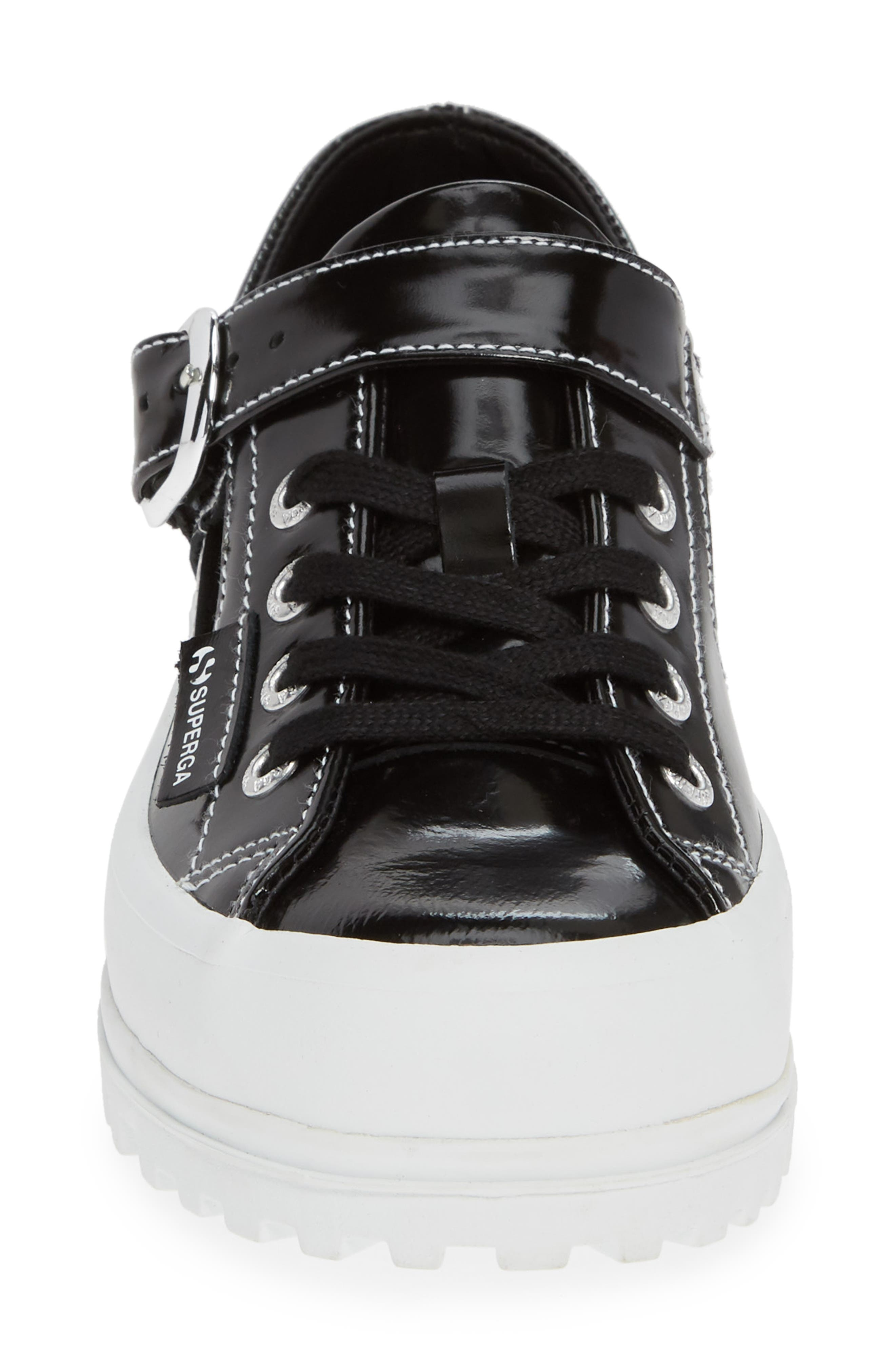 x Alexa Chung 2254 Alpinaleapatentw Platform Sneaker,                             Alternate thumbnail 4, color,                             BLACK