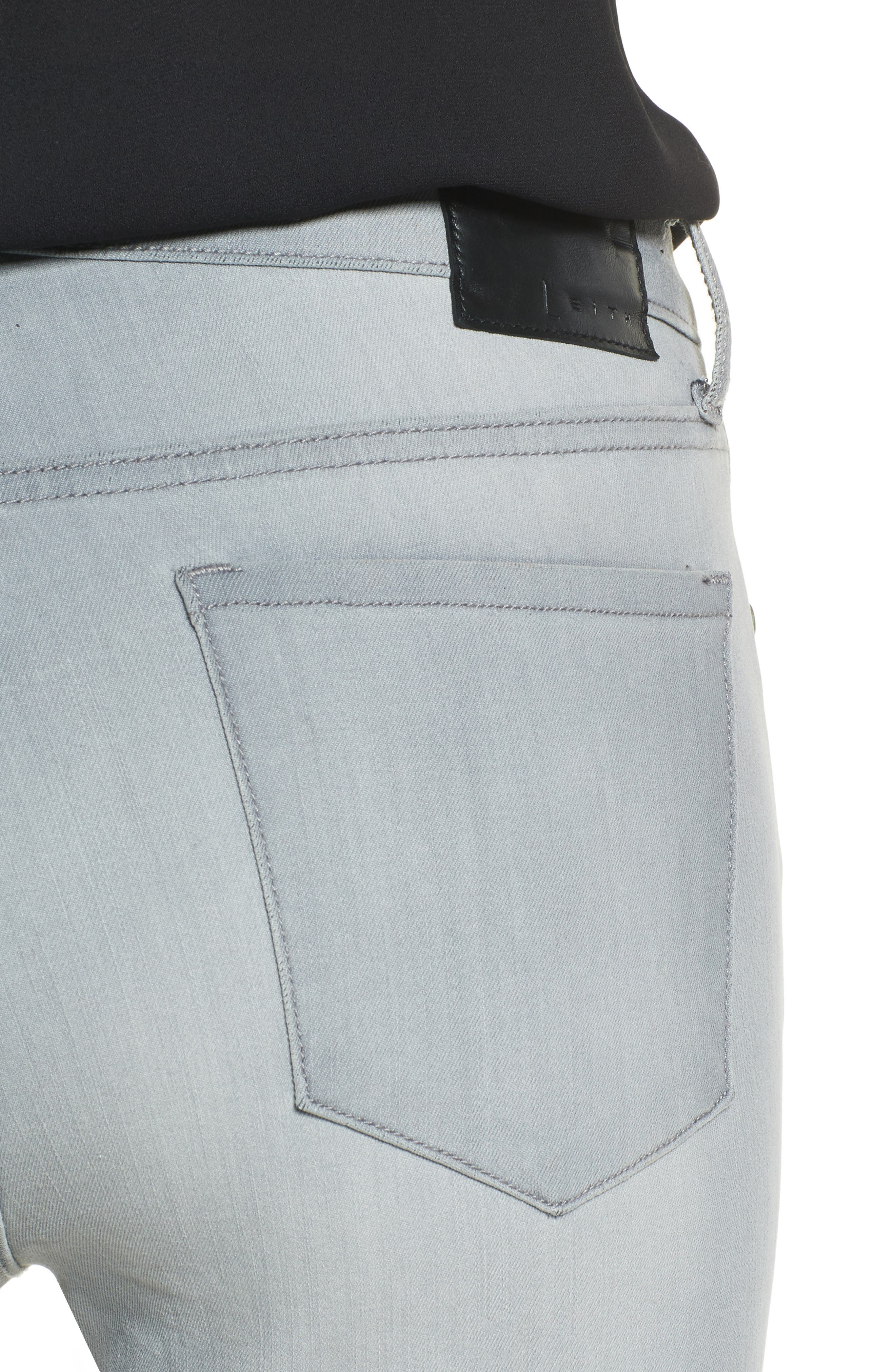 High Waist Skinny Jeans,                             Alternate thumbnail 4, color,                             030