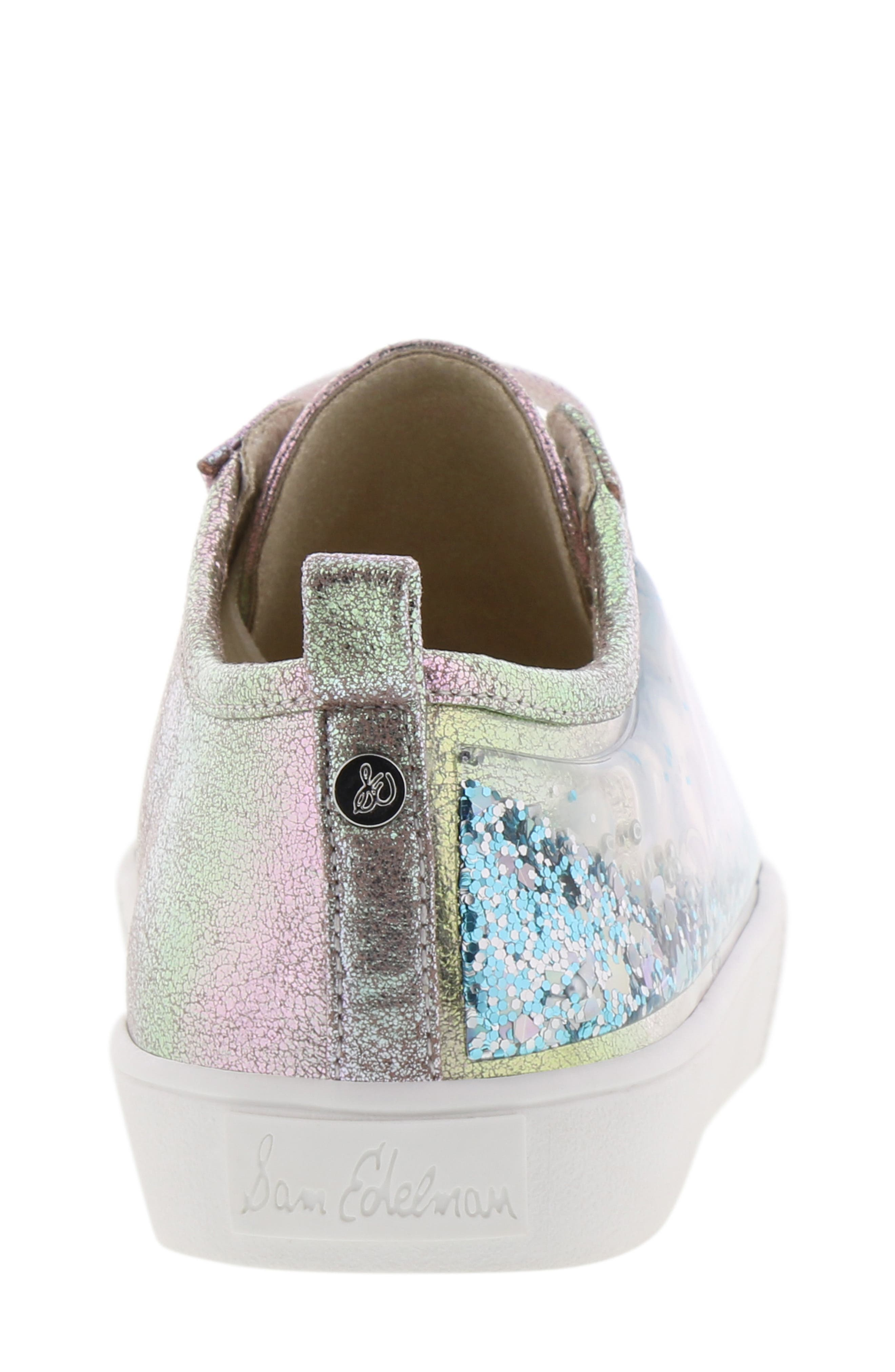 Bella Aqua Slip-On Sneaker,                             Alternate thumbnail 7, color,                             GASOLINE IRIDESCENT