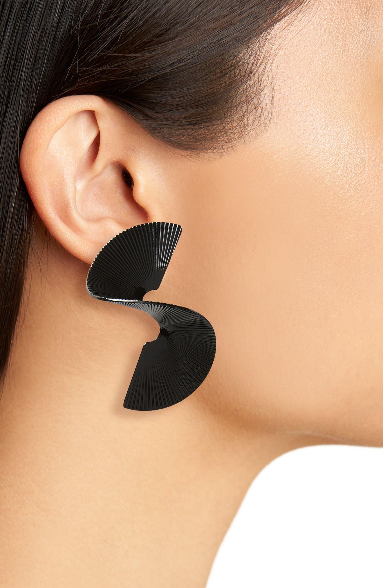 Swirl Earrings,                             Alternate thumbnail 2, color,                             001