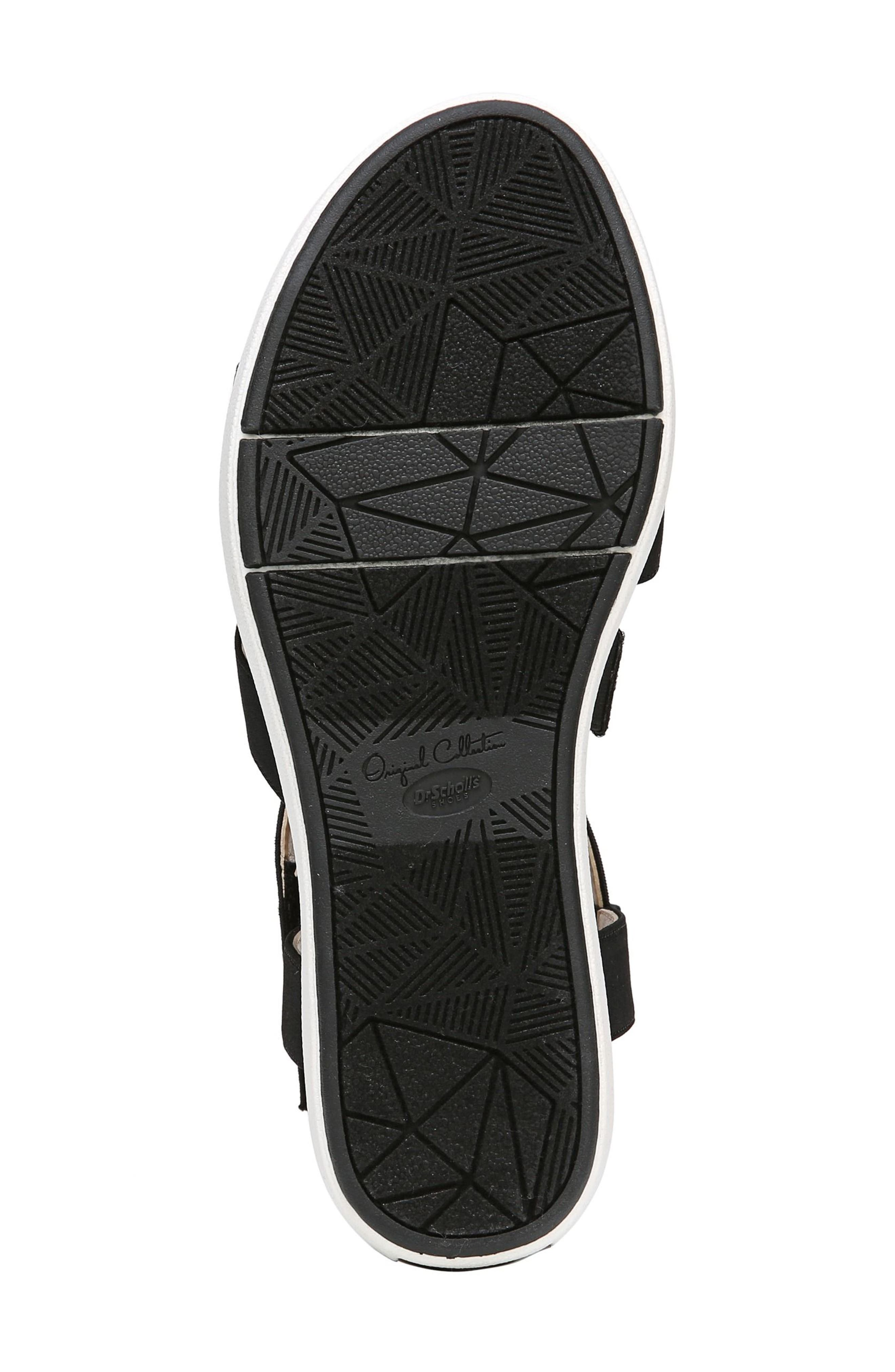 Social Wedge Sandal,                             Alternate thumbnail 6, color,                             BLACK